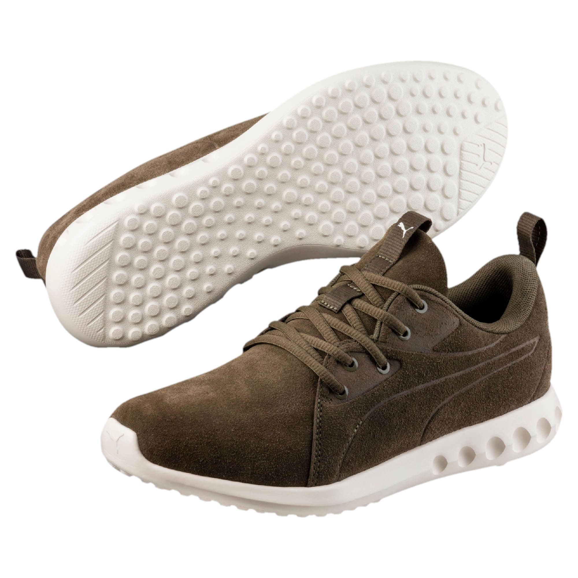 Thumbnail 6 of Carson 2 Moulded Suede Trainers, Olive Night-Whisper White, medium-IND