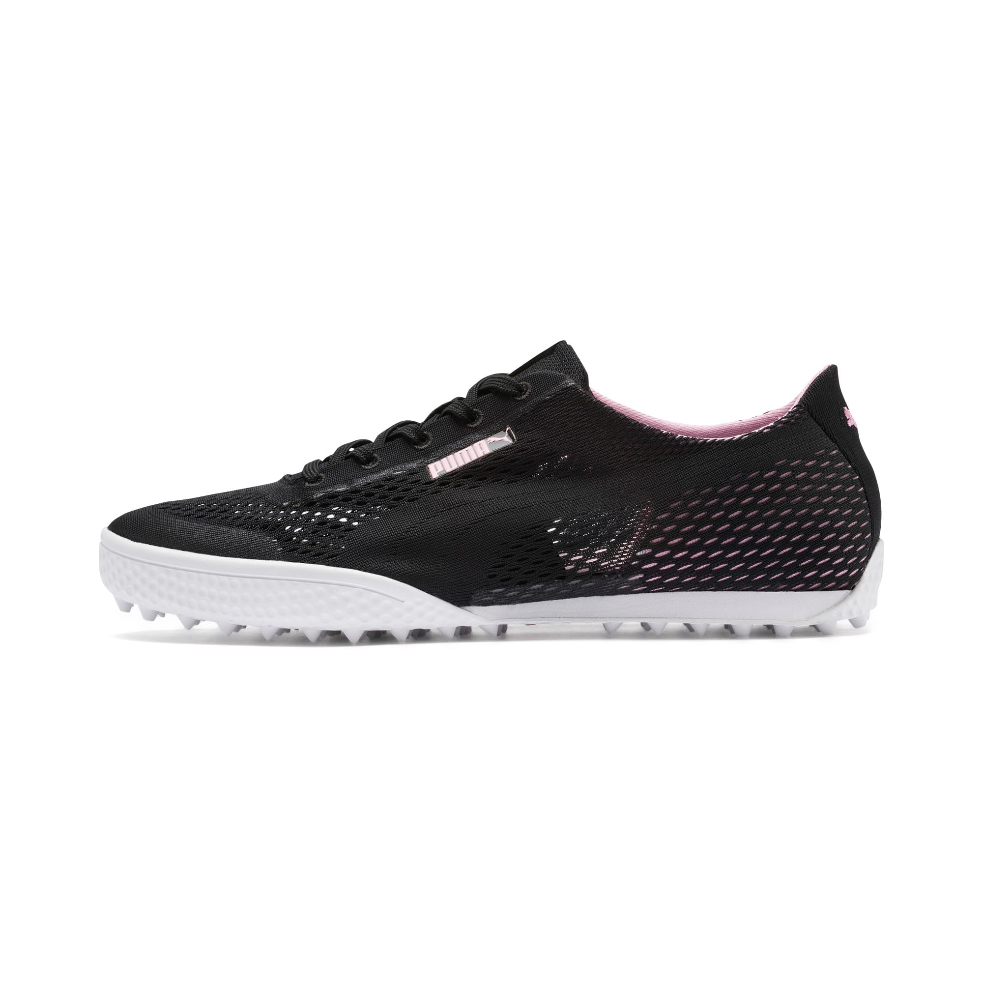 Thumbnail 1 of Monolite Cat Woven Women's Golf Shoes, Puma Black-Pale Pink, medium