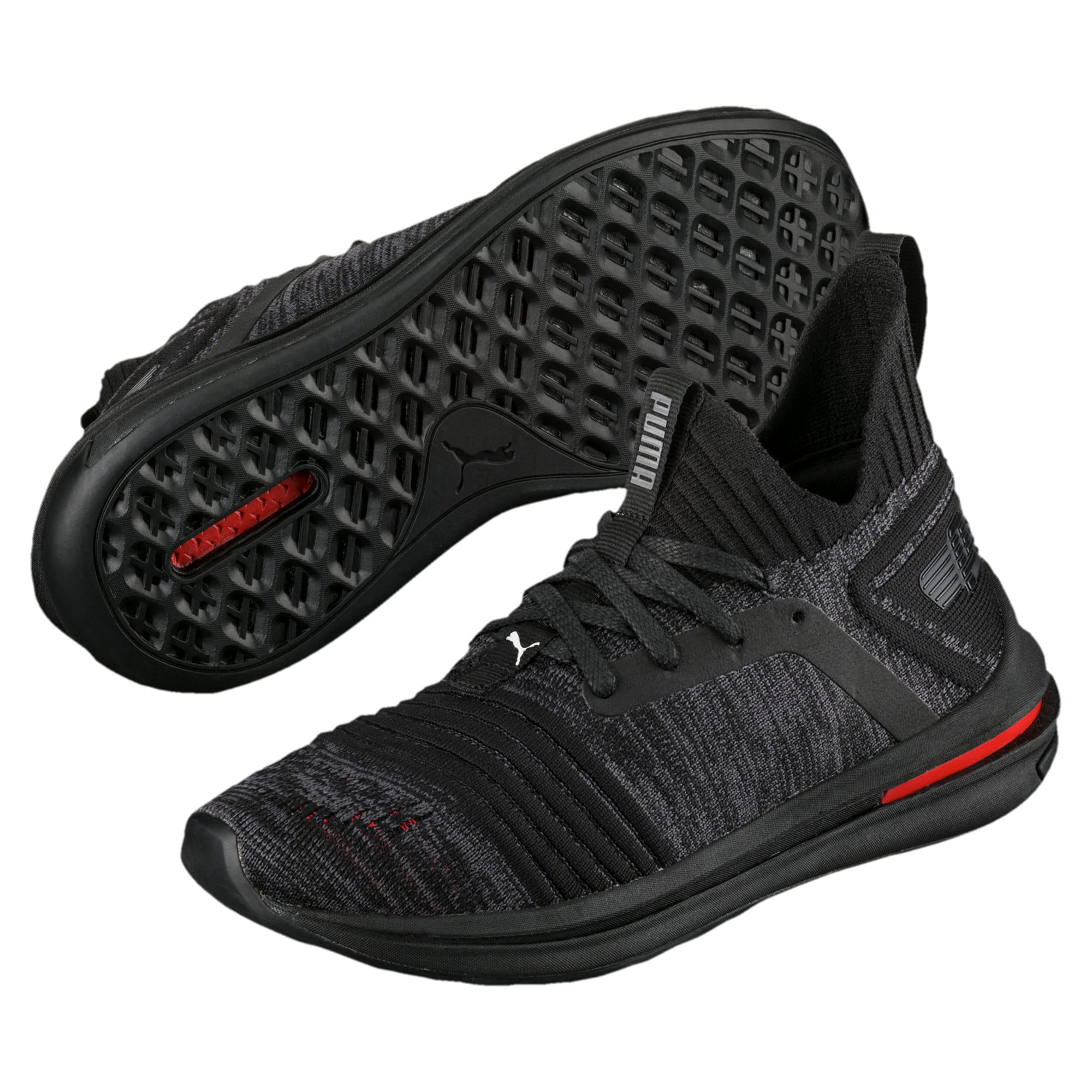 Thumbnail 2 of IGNITE Limitless evoKNIT Kid's Trainers, Black-Black-Asphalt, medium-IND