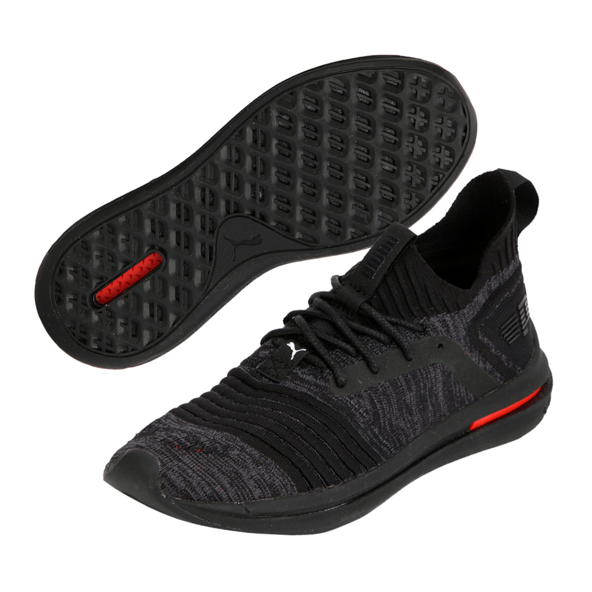 Thumbnail 6 of IGNITE Limitless evoKNIT Kid's Trainers, Black-Black-Asphalt, medium-IND