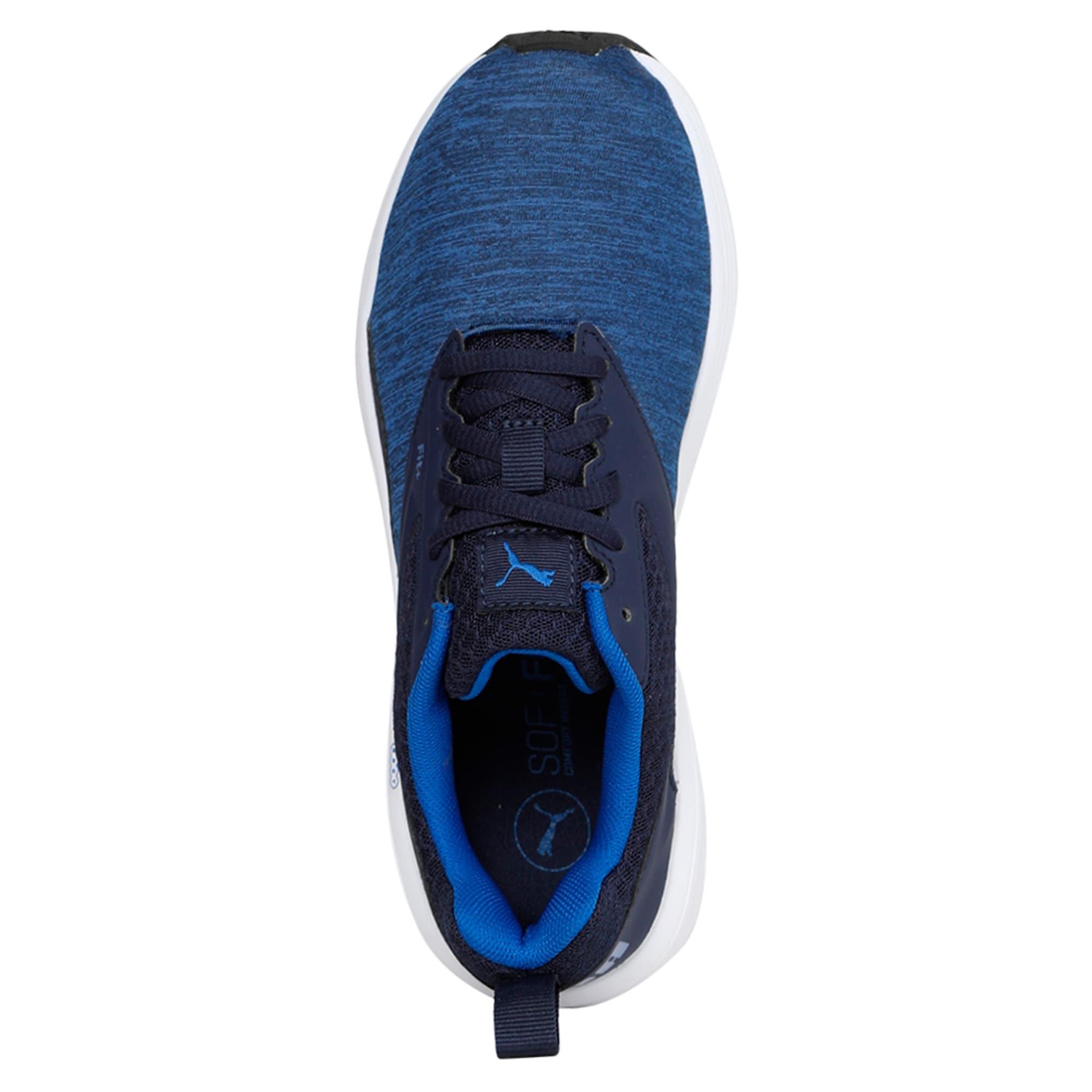 Thumbnail 3 of NRGY Comet Kids' Training Shoes, Turkish Sea-Peacoat-White, medium-IND