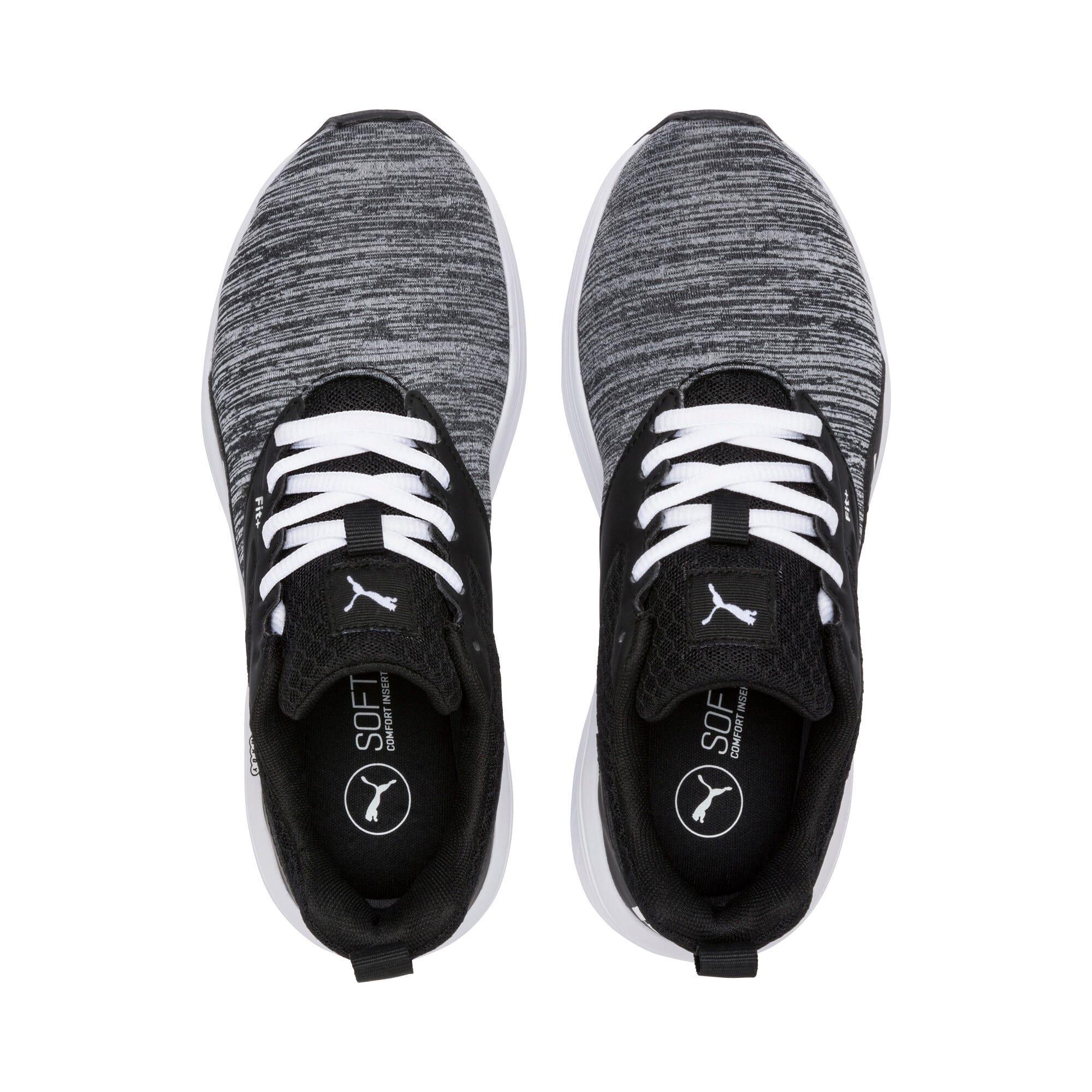 Thumbnail 2 of NRGY Comet Kids' Training Shoes, Puma White-Puma Black, medium-IND