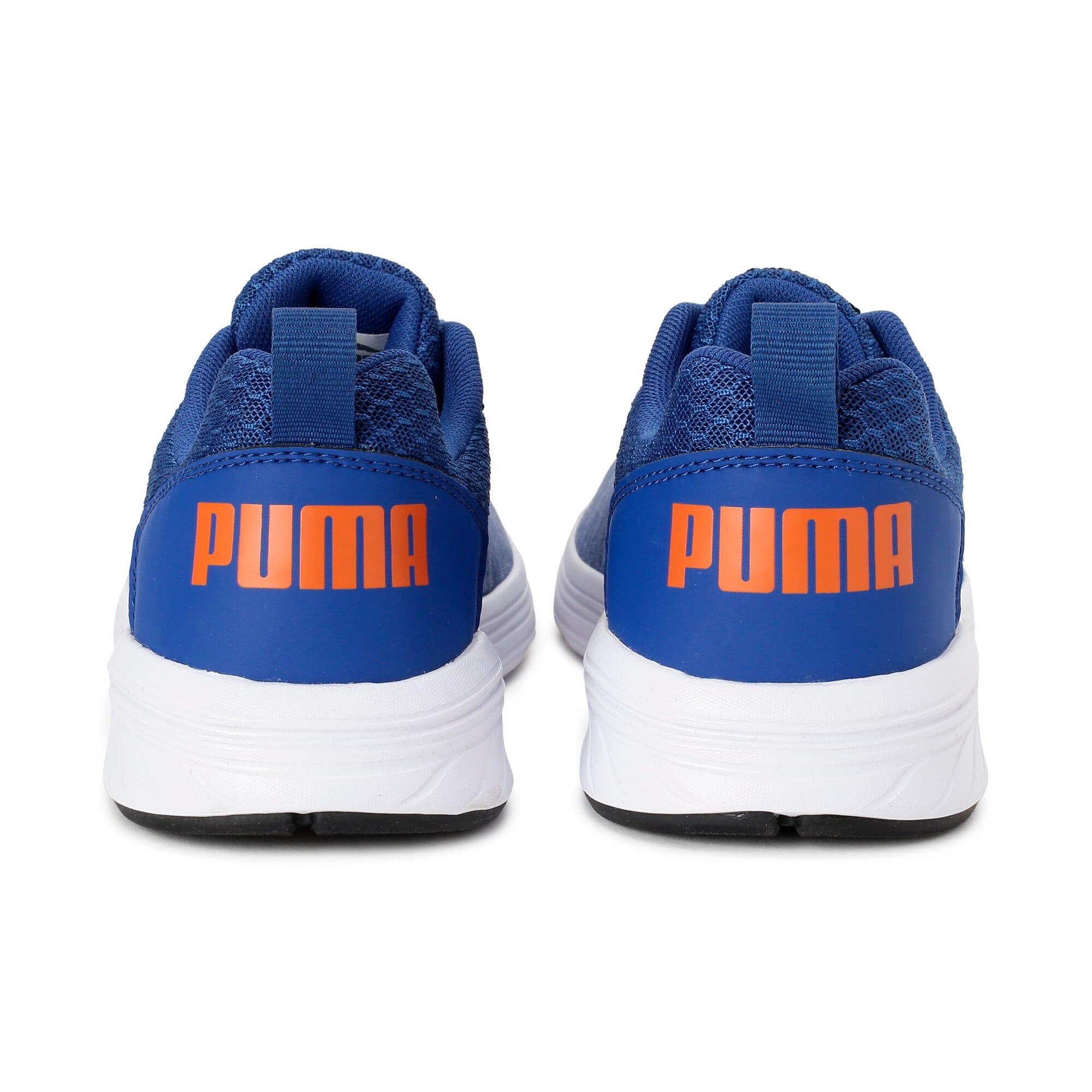 Thumbnail 2 of NRGY Comet Kids' Training Shoes, Galaxy Blue-White-Orange, medium-IND