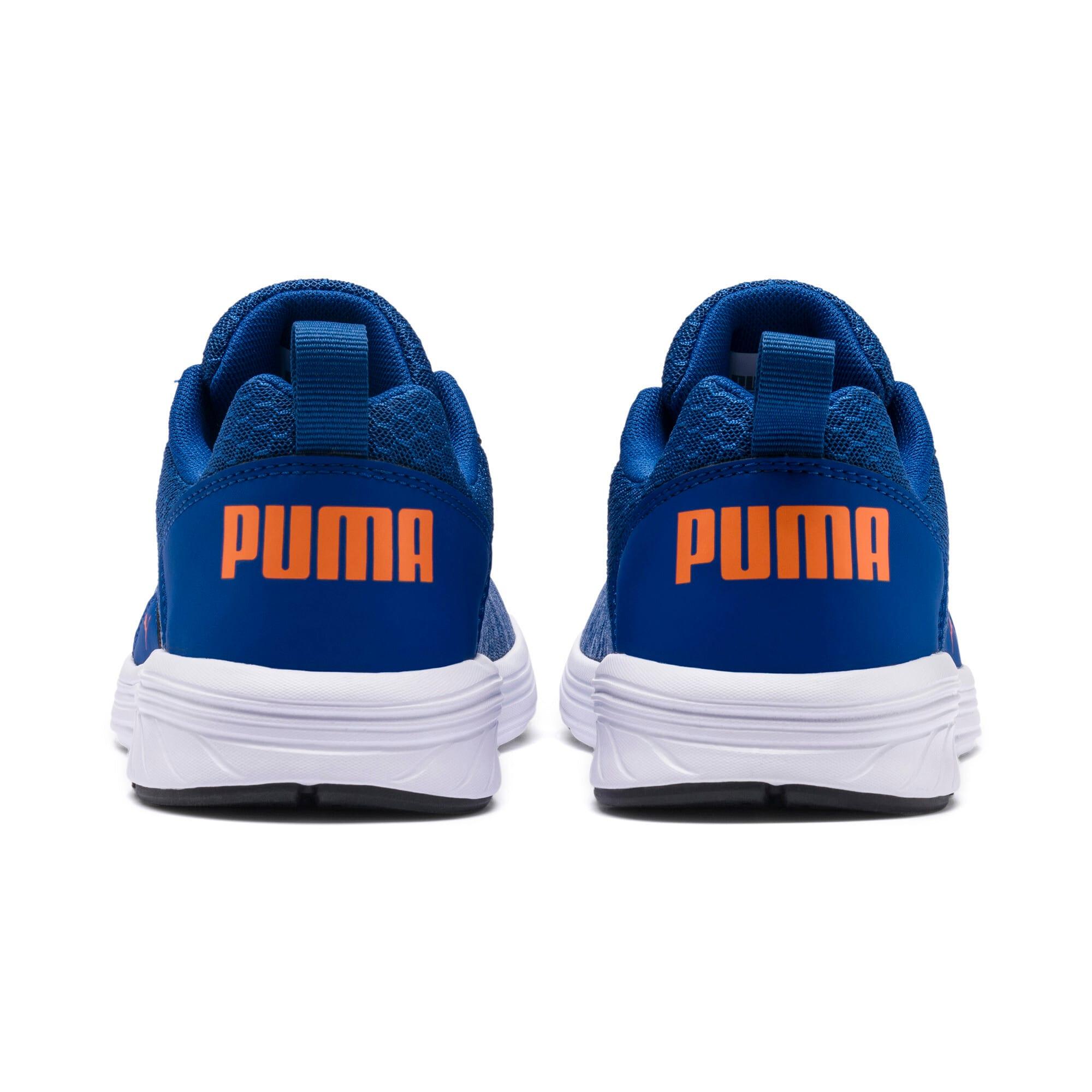 Thumbnail 4 of NRGY Comet Kids' Training Shoes, Galaxy Blue-White-Orange, medium-IND