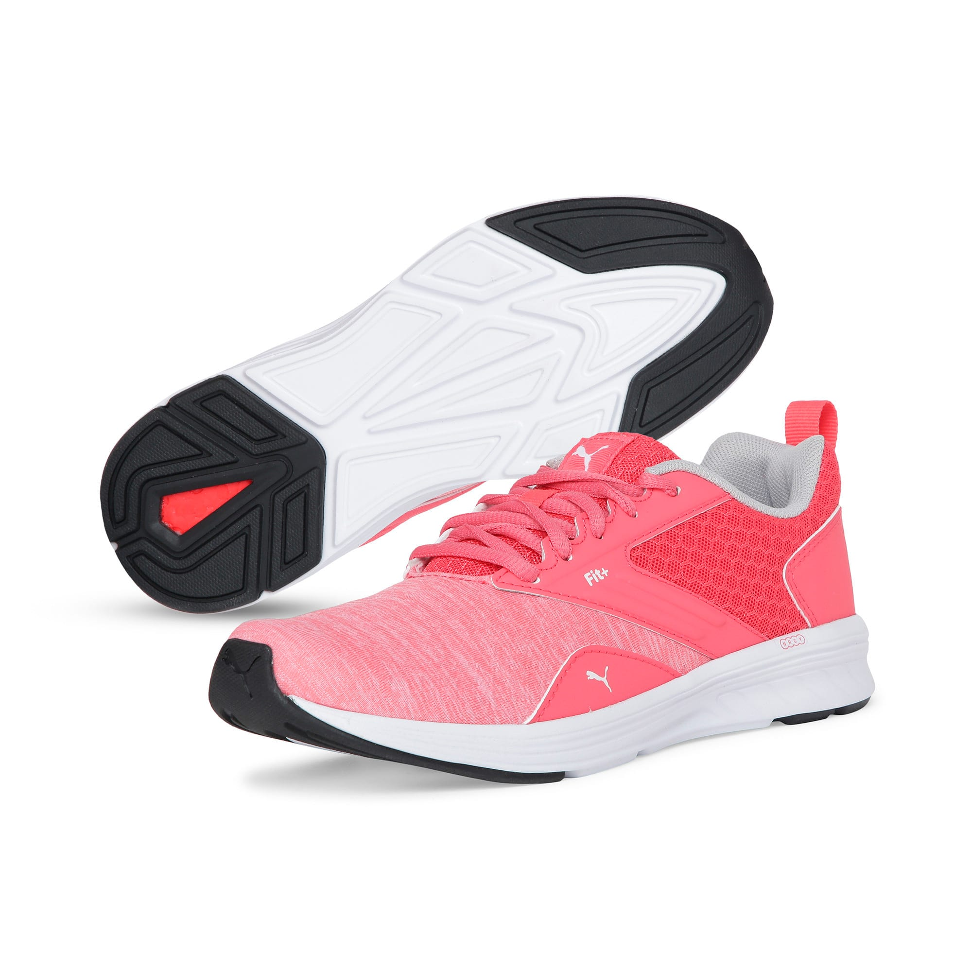 Thumbnail 2 of NRGY Comet Kids' Training Shoes, Calypso Coral-Puma White, medium-IND