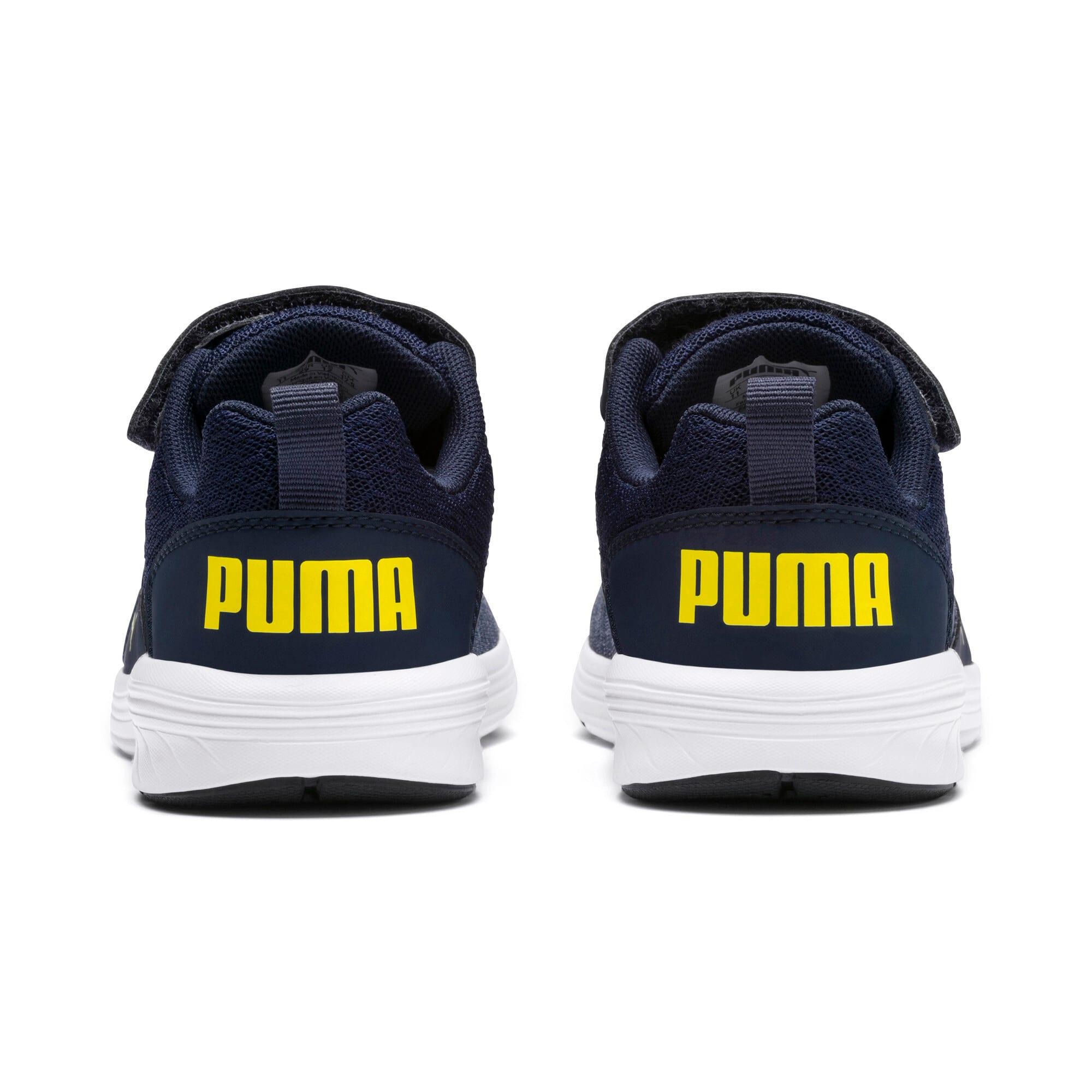 Thumbnail 2 of NRGY Comet Preschool Running Shoes, Peacoat-Blazing Yellow, medium-IND