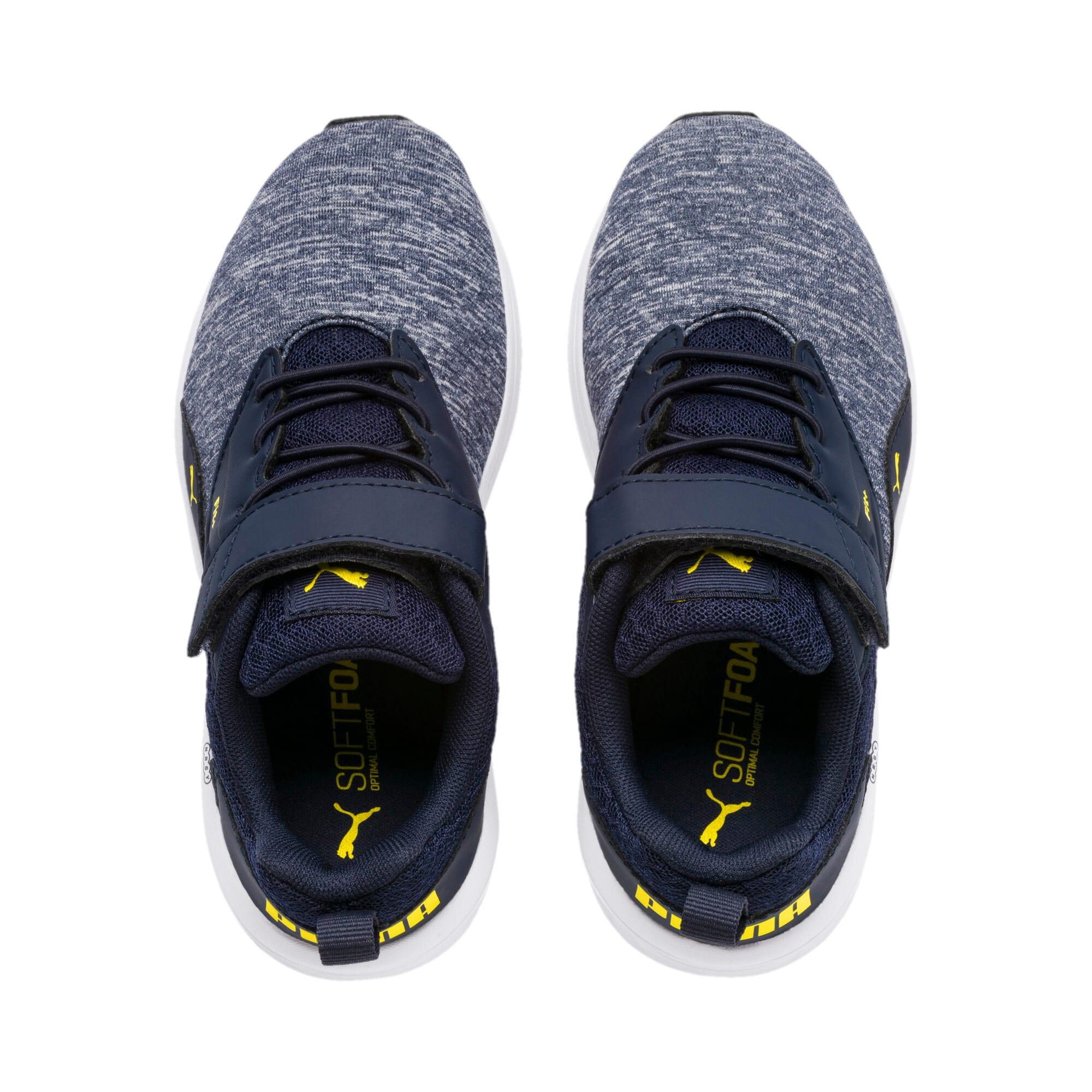 Thumbnail 4 of NRGY Comet Preschool Running Shoes, Peacoat-Blazing Yellow, medium-IND