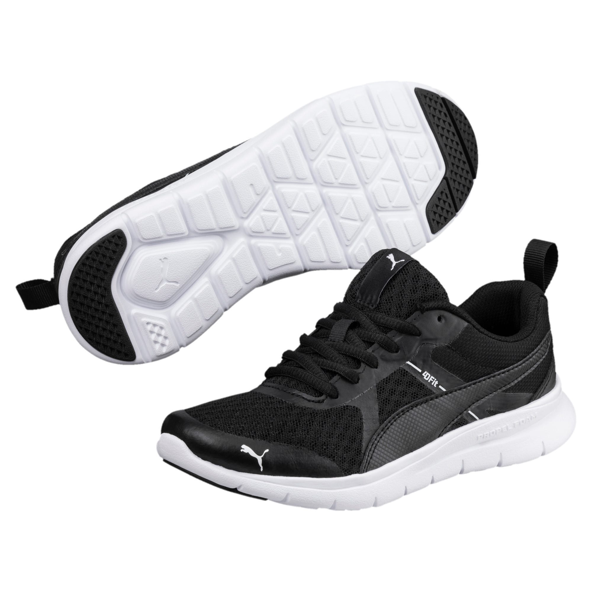 Thumbnail 2 of Essential Flex Youth Trainers, Puma Black-Puma Black, medium-IND