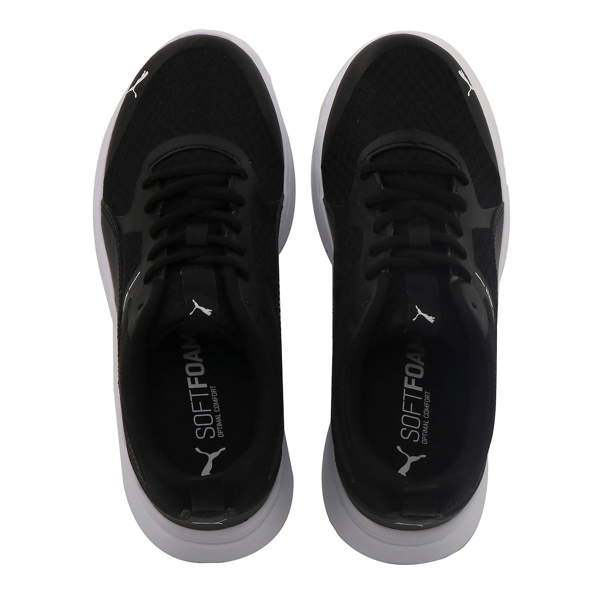 Thumbnail 6 of Essential Flex Youth Trainers, Puma Black-Puma Black, medium-IND