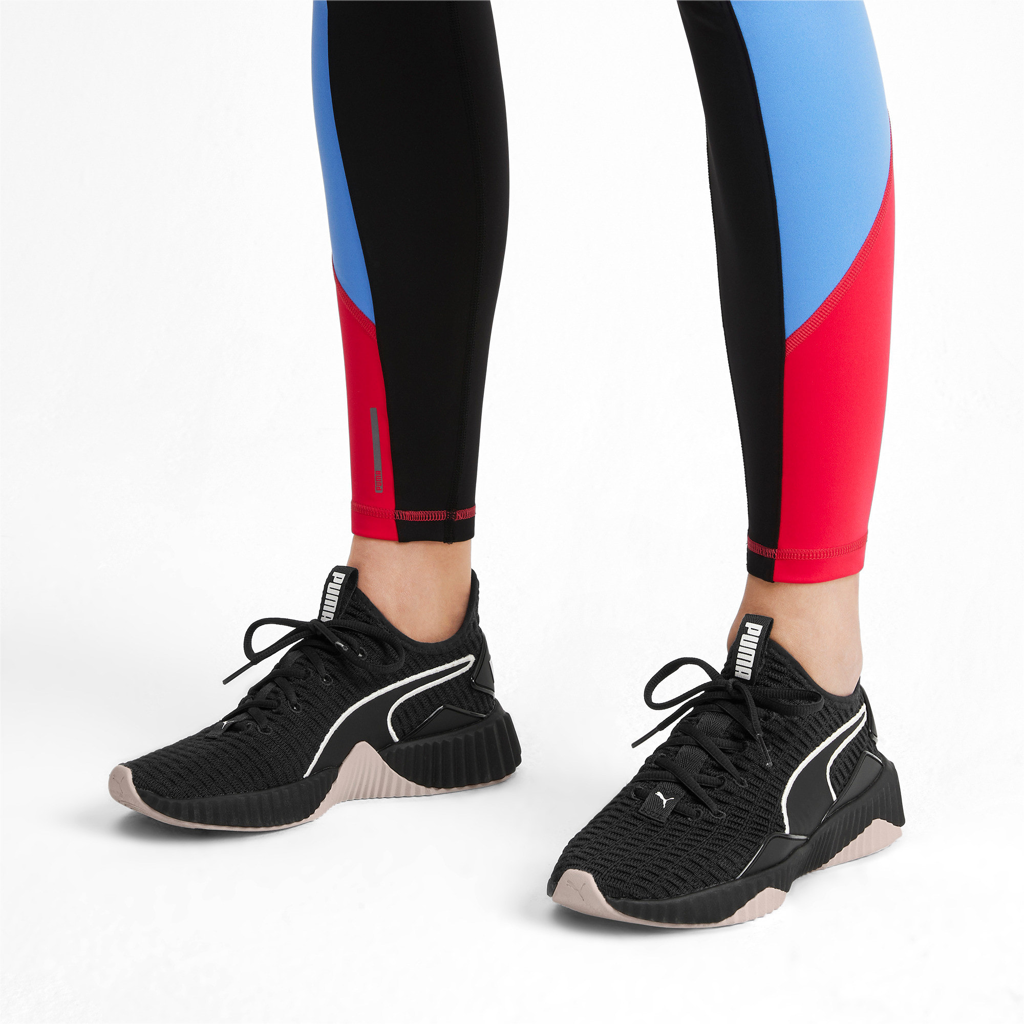 Thumbnail 2 van Defy sneakers voor vrouwen, Puma Black-Pastel Parchment, medium