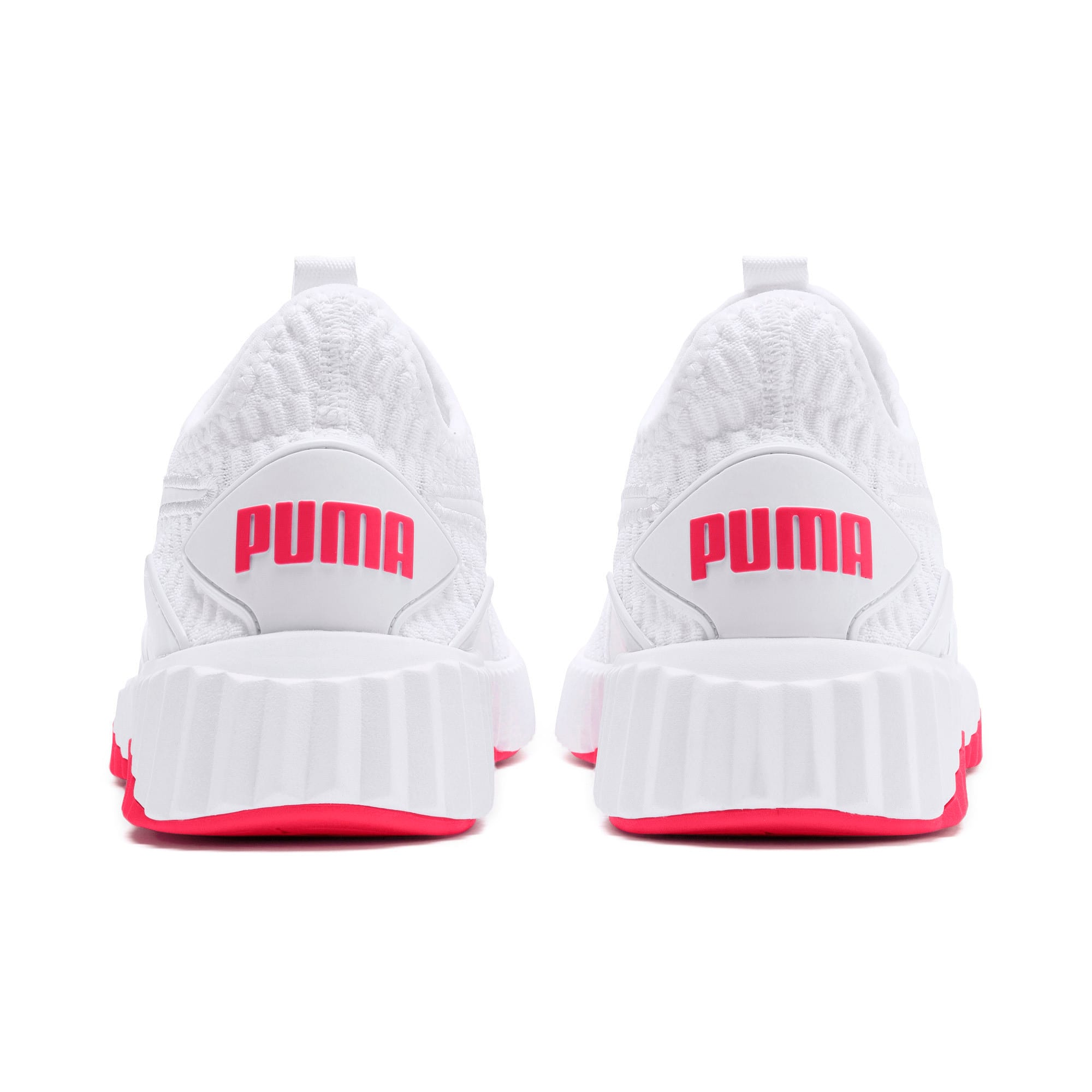 Defy Women's Training Shoes, Puma White-Pink Alert, large