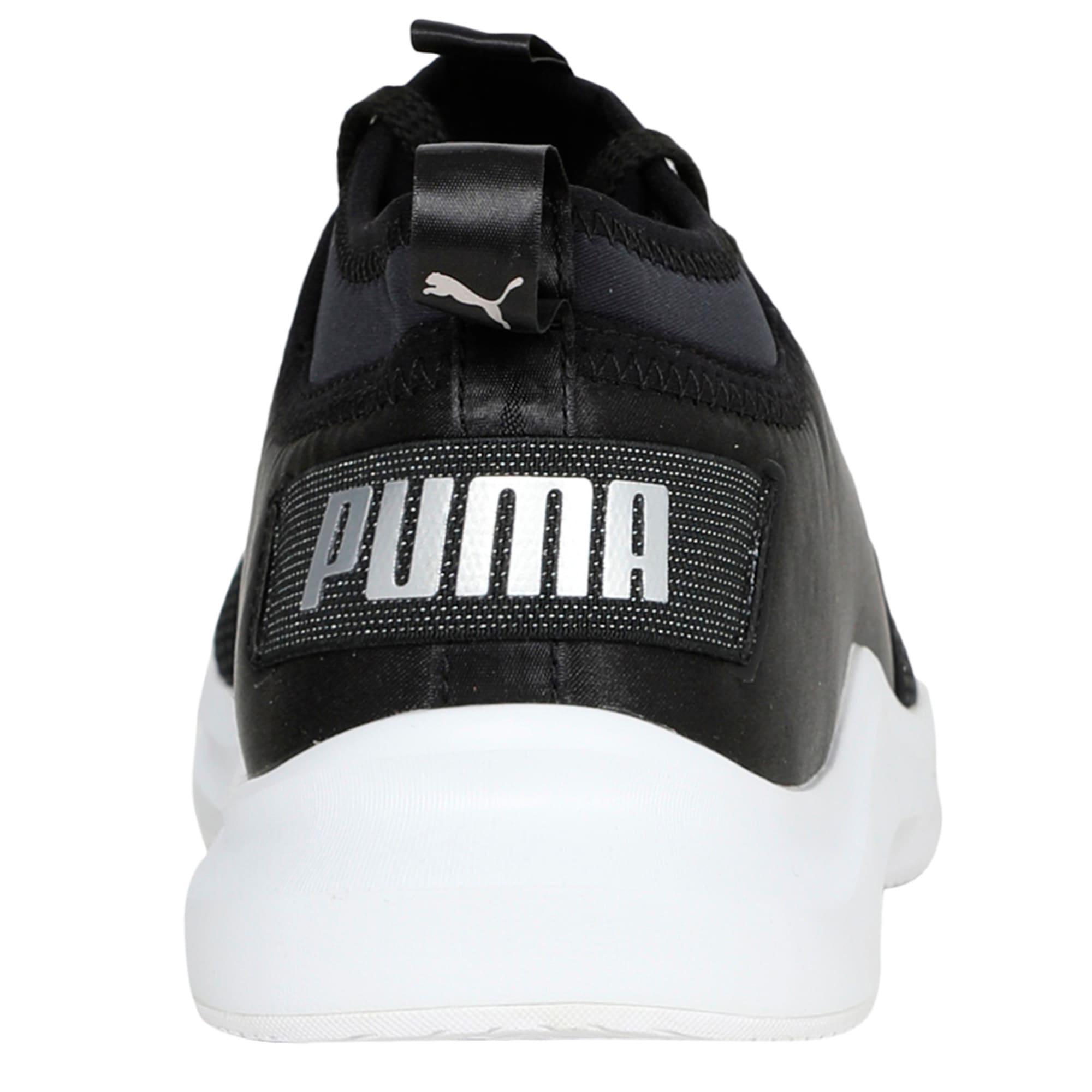 Thumbnail 4 of Phenom Satin Lo En Pointe Women's Training Shoes, Puma Black-Puma White, medium-IND