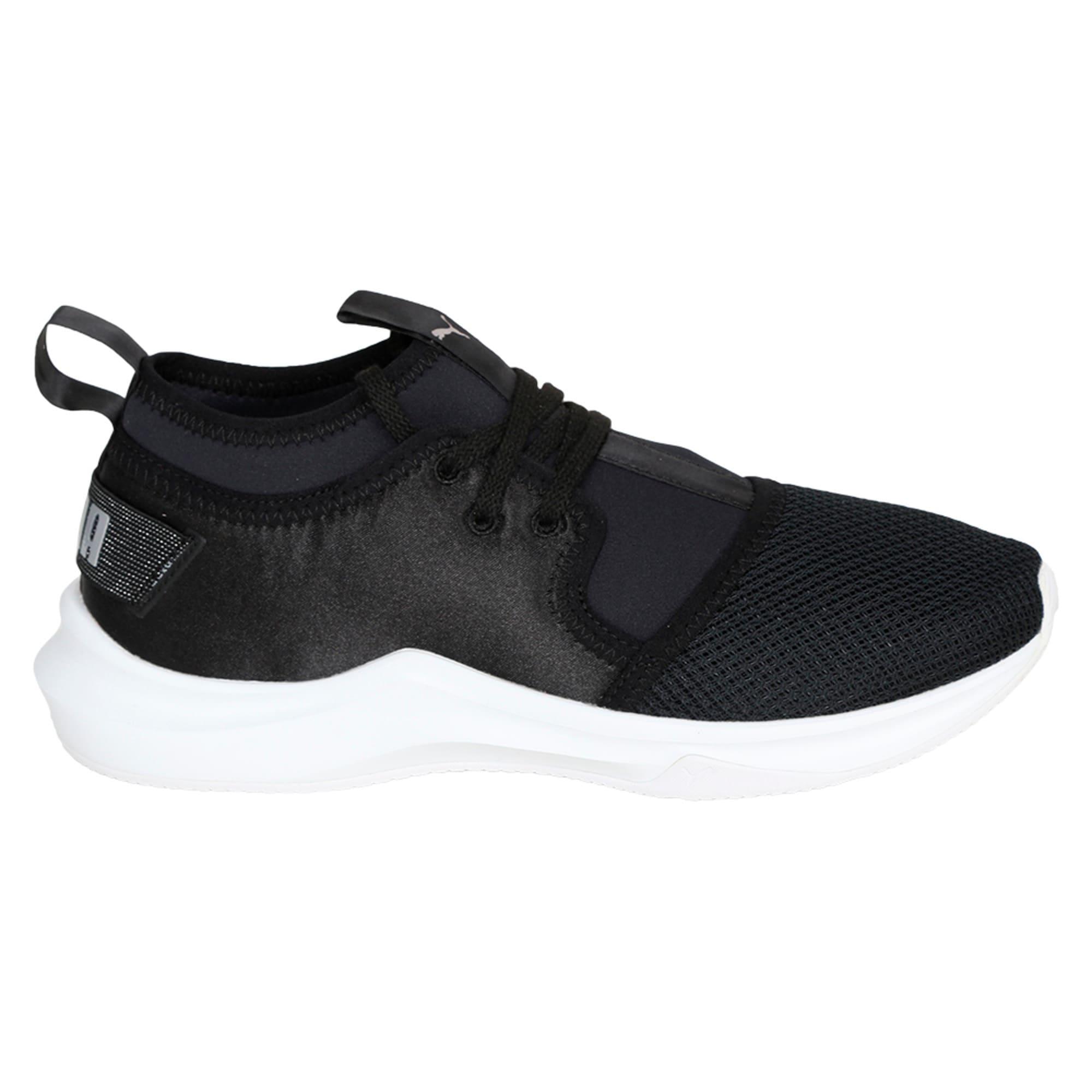 Thumbnail 5 of Phenom Satin Lo En Pointe Women's Training Shoes, Puma Black-Puma White, medium-IND