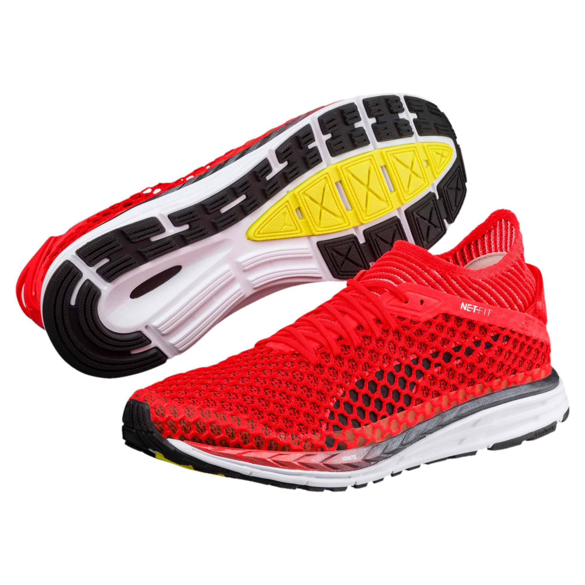 Thumbnail 2 of Speed IGNITE NETFIT 2 Men's Running Shoes, Red Blast-White-Black, medium-IND