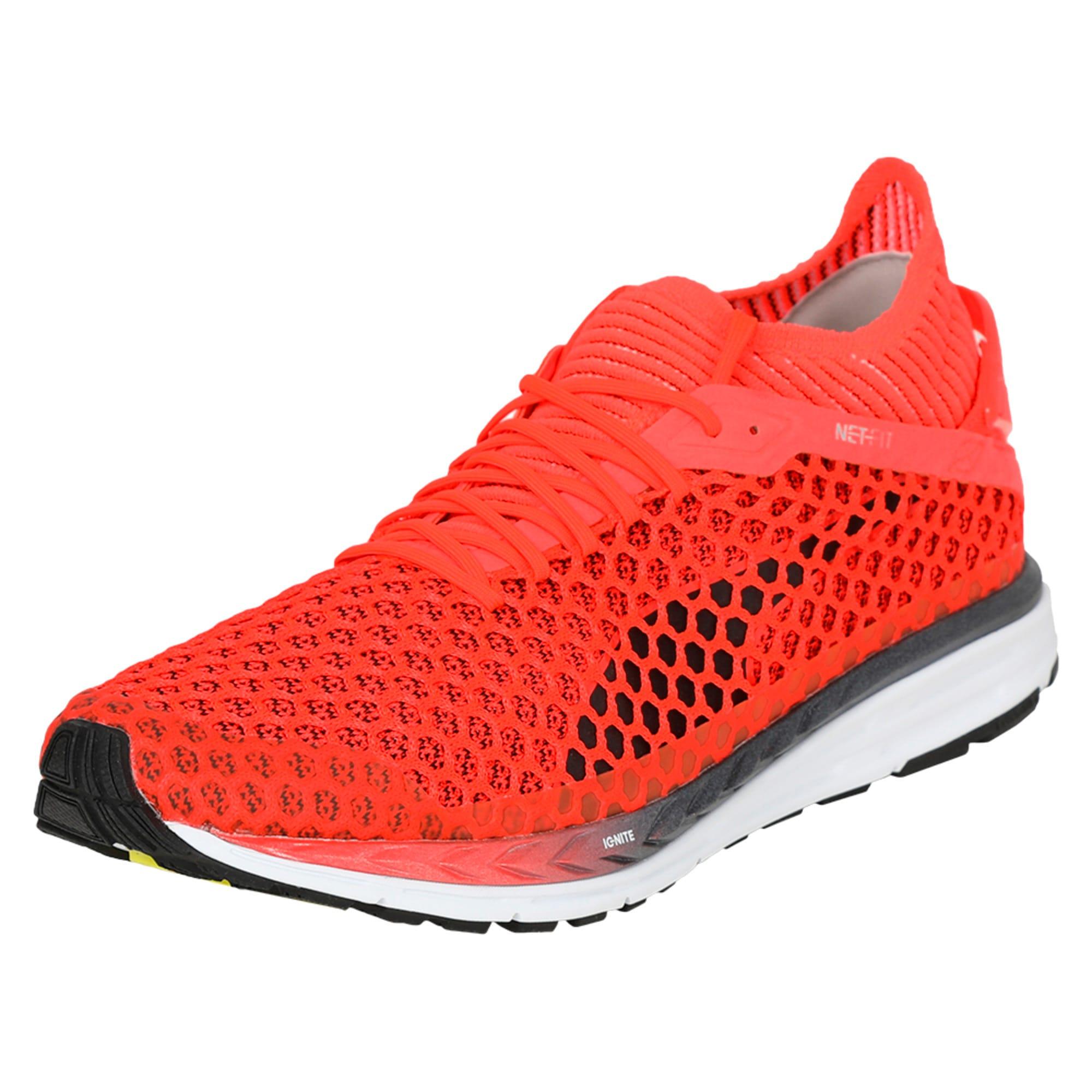 Thumbnail 1 of Speed IGNITE NETFIT 2 Men's Running Shoes, Red Blast-White-Black, medium-IND