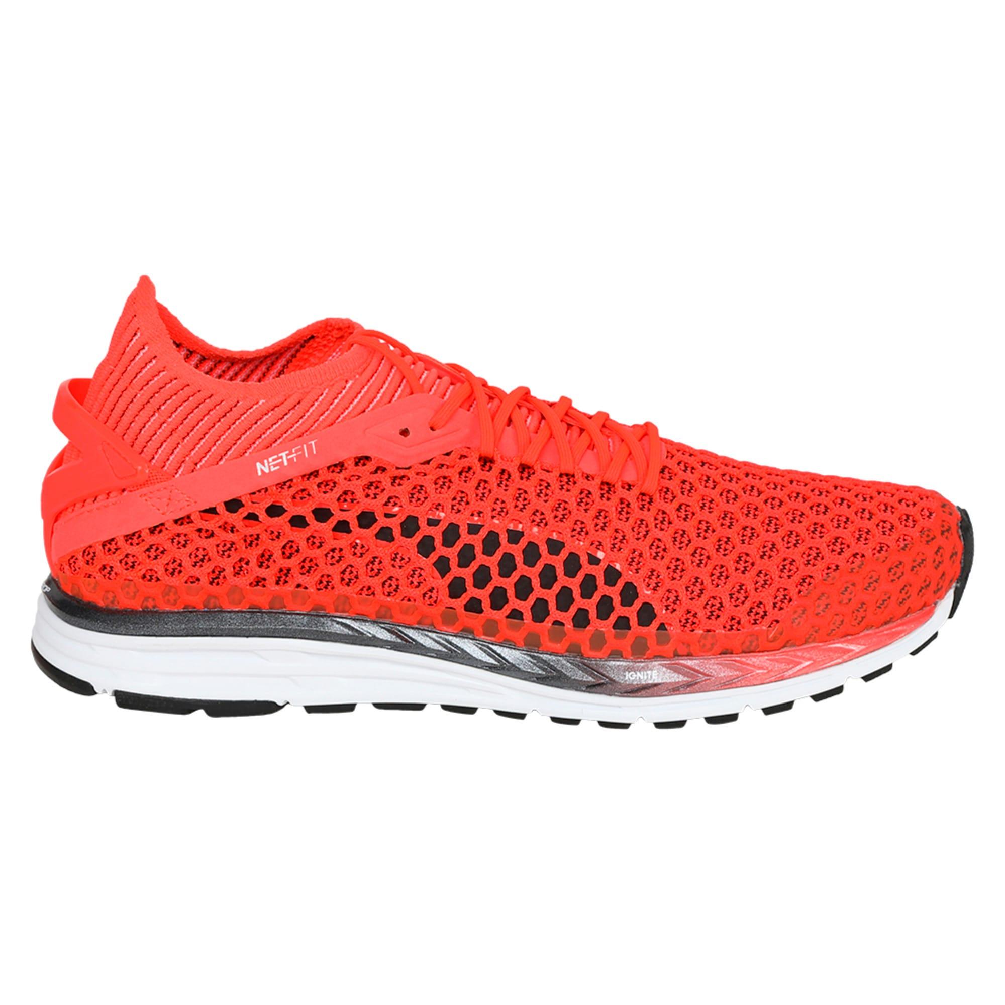 Thumbnail 5 of Speed IGNITE NETFIT 2 Men's Running Shoes, Red Blast-White-Black, medium-IND