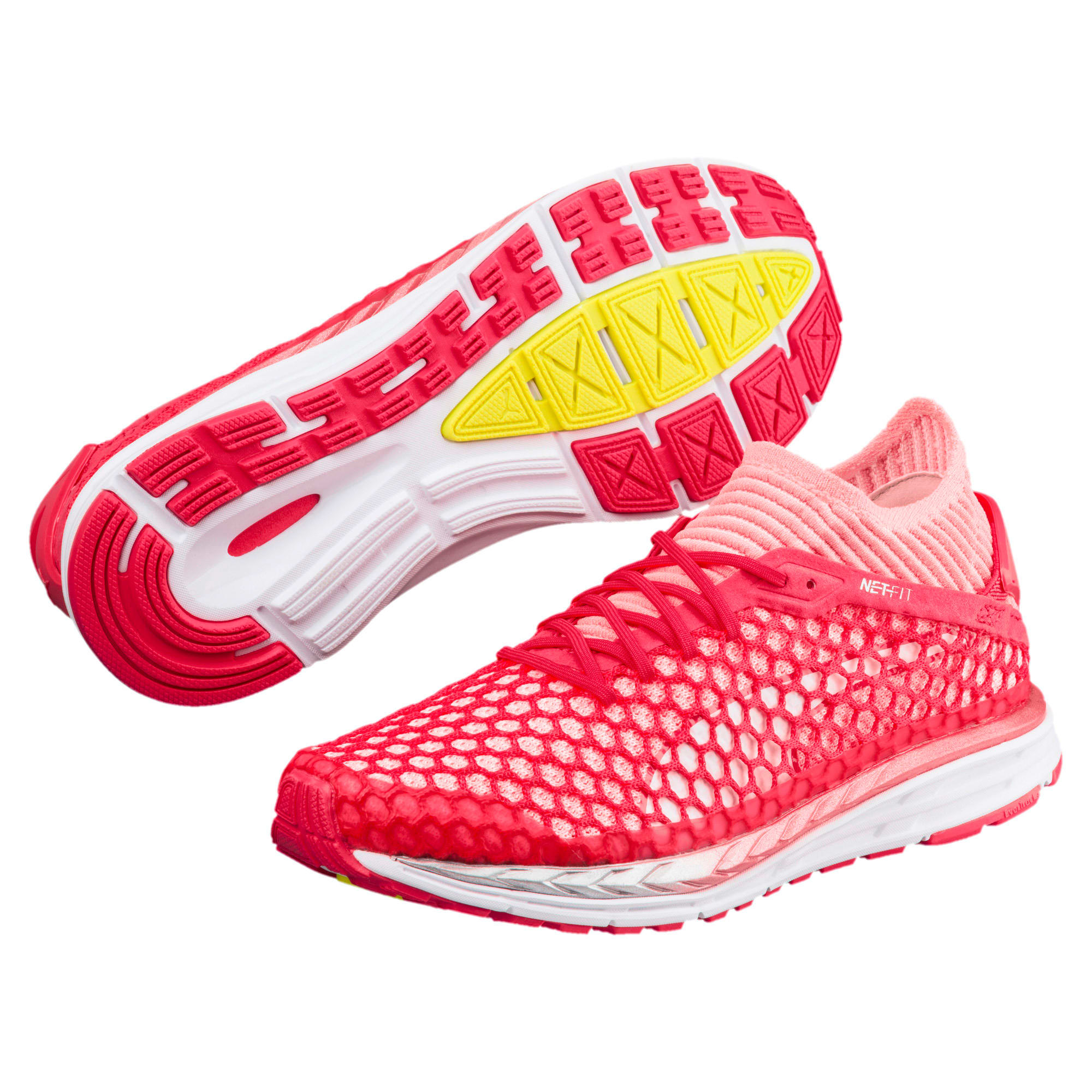 Thumbnail 2 of Speed IGNITE NETFIT 2 Women's Running Shoes, Pink-Fluo Peach-White, medium-IND