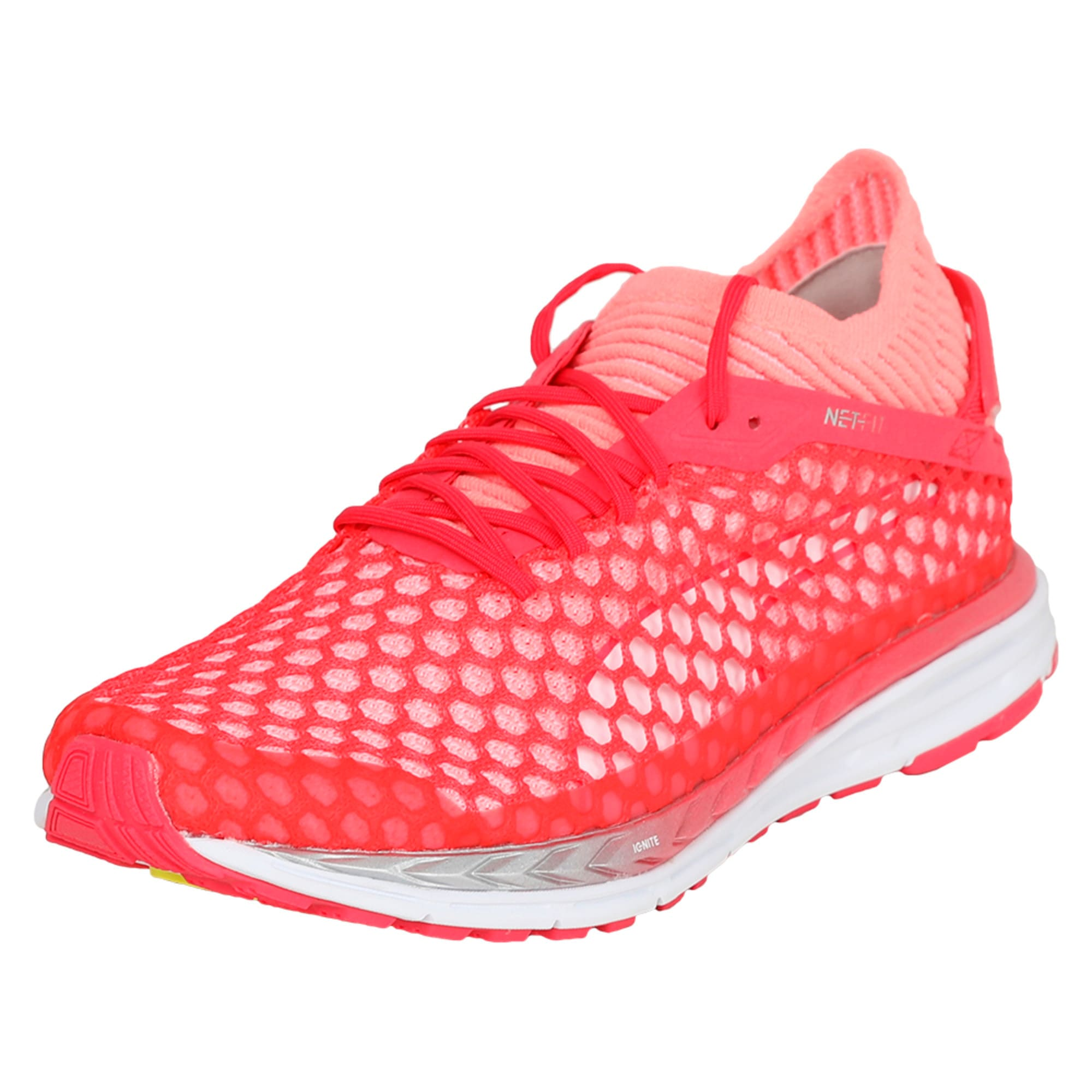 Thumbnail 1 of Speed IGNITE NETFIT 2 Women's Running Shoes, Pink-Fluo Peach-White, medium-IND