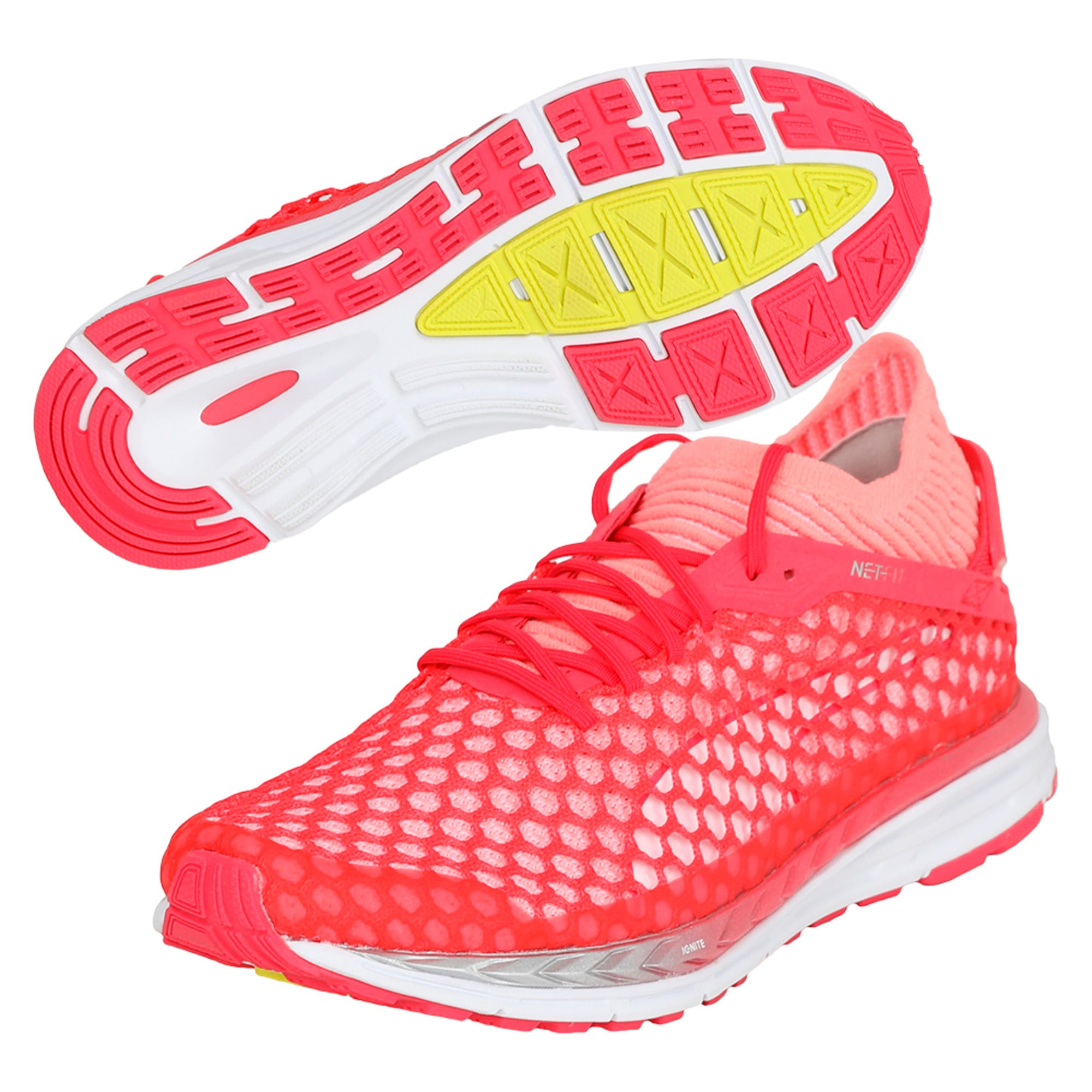 Thumbnail 6 of Speed IGNITE NETFIT 2 Women's Running Shoes, Pink-Fluo Peach-White, medium-IND
