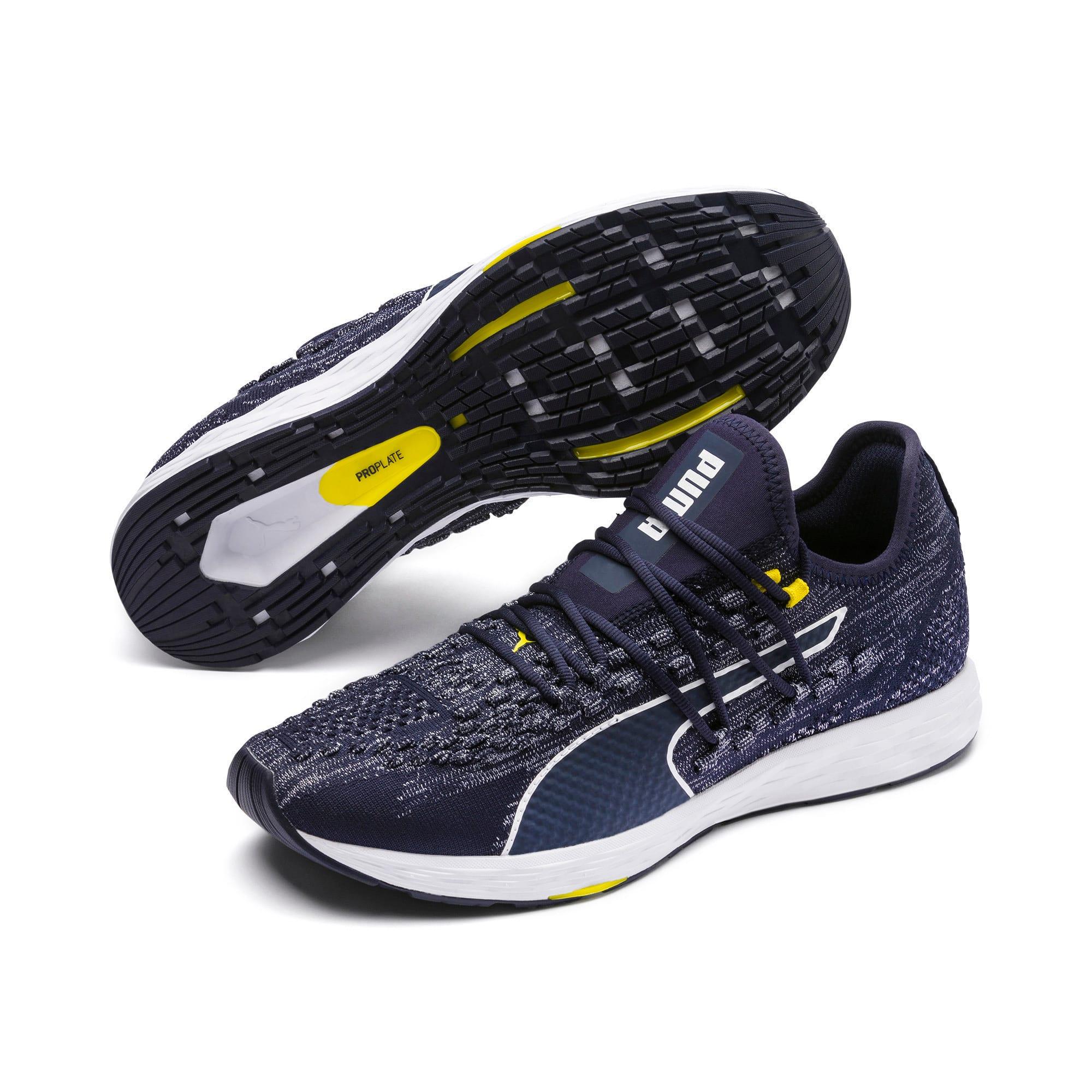 Thumbnail 2 of SPEED RACER Men's Running Shoes, Peacoat-White-Blazing Yellow, medium-IND