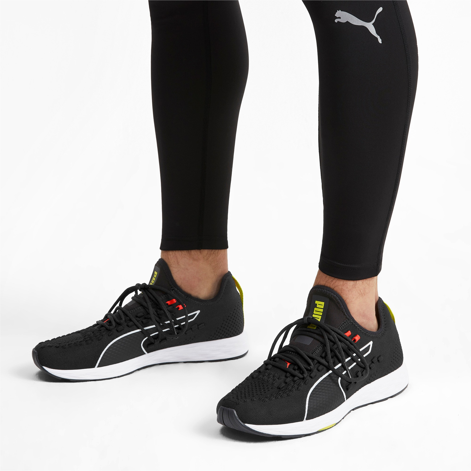 Thumbnail 2 of SPEED RACER Men's Running Shoes, Black-Nrgy Red-Yellow Alert, medium