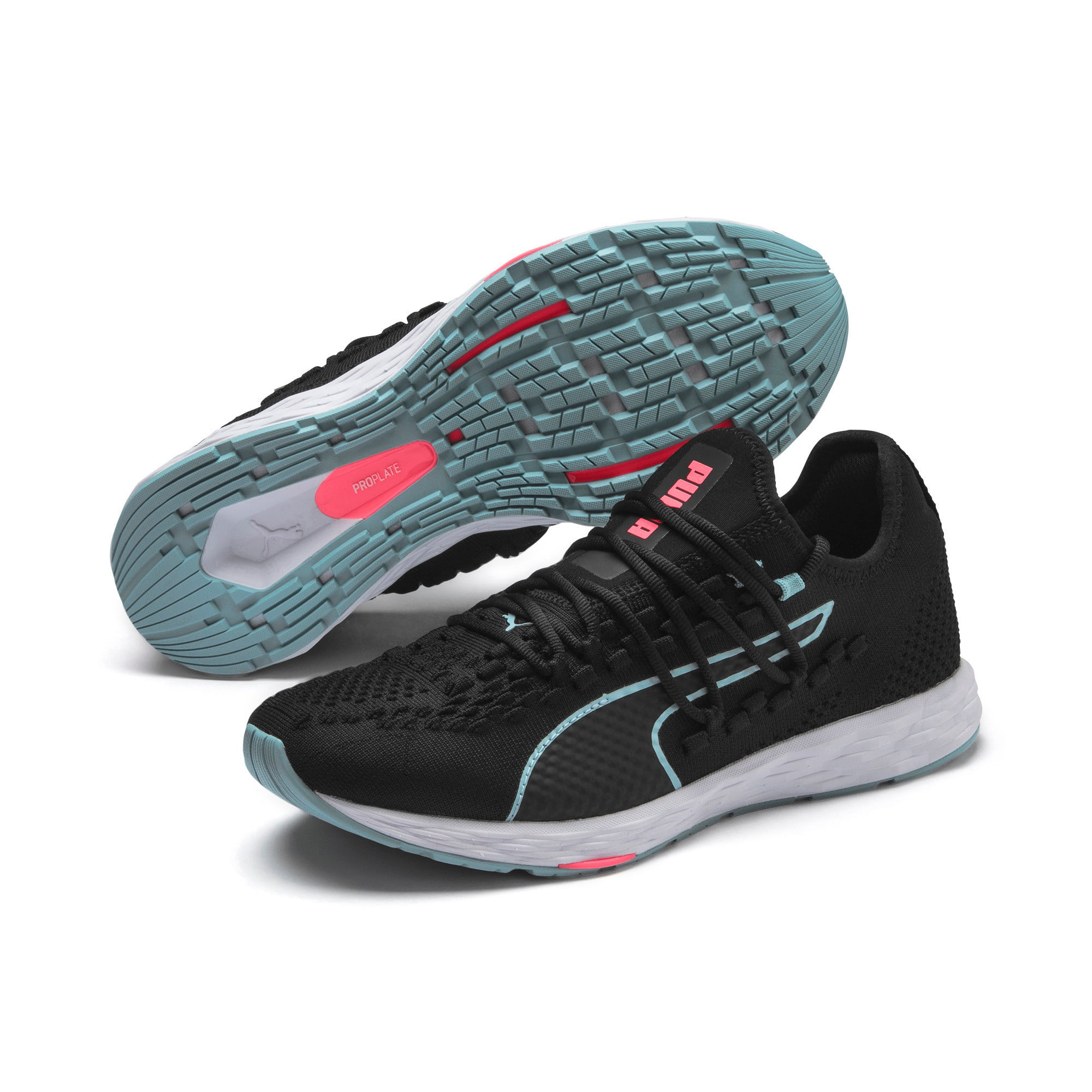 Thumbnail 3 of SPEED RACER Women's Running Shoes, Black-Milky Blue-Pink Alert, medium