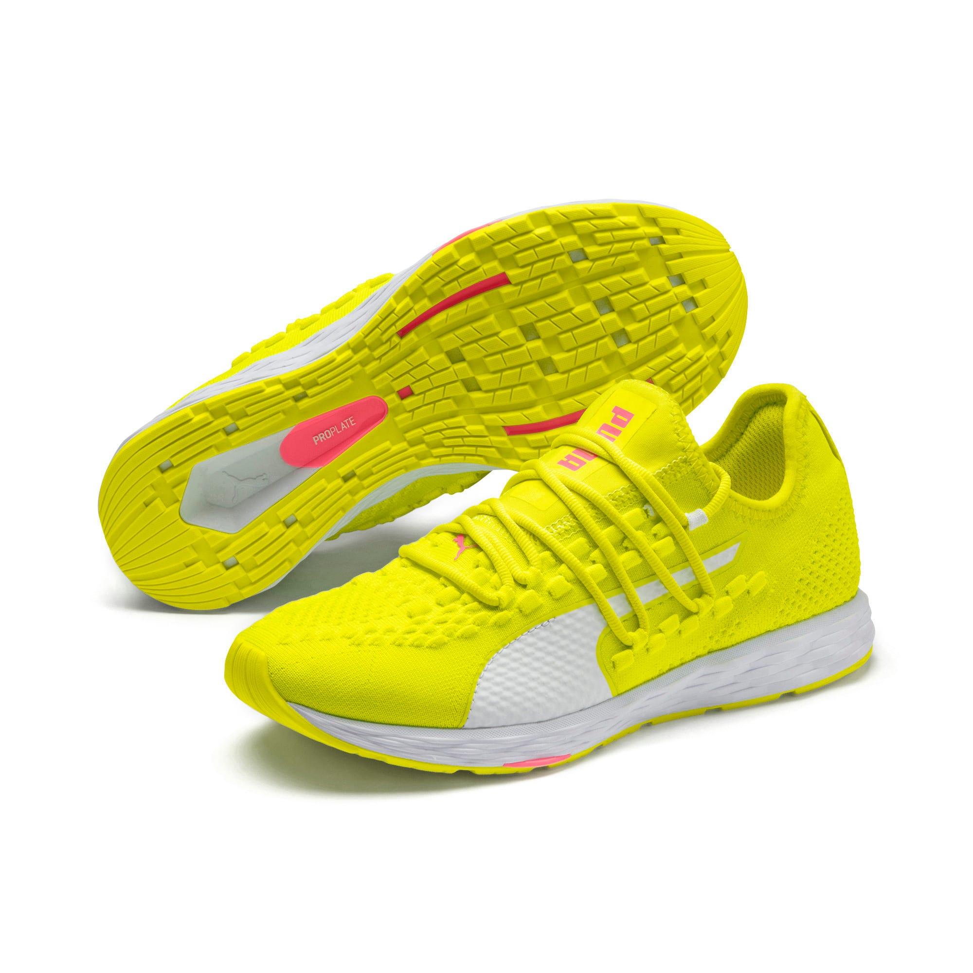 Thumbnail 4 of SPEED RACER Women's Running Shoes, Yellow-White-Pink Alert, medium-IND