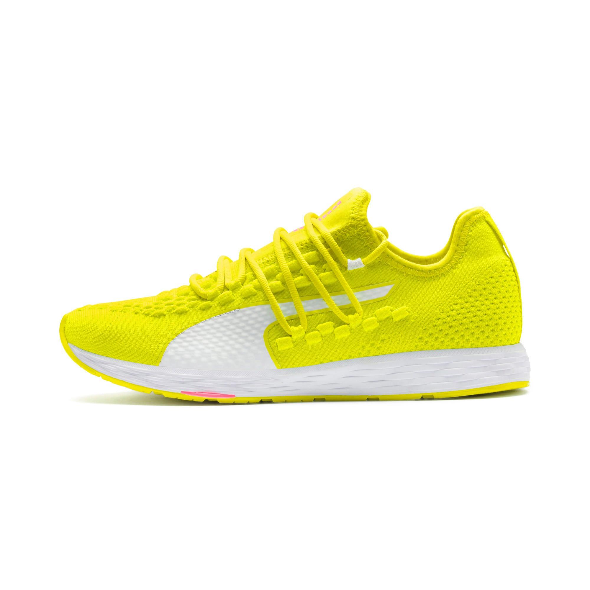 Thumbnail 1 of SPEED RACER Women's Running Shoes, Yellow-White-Pink Alert, medium-IND