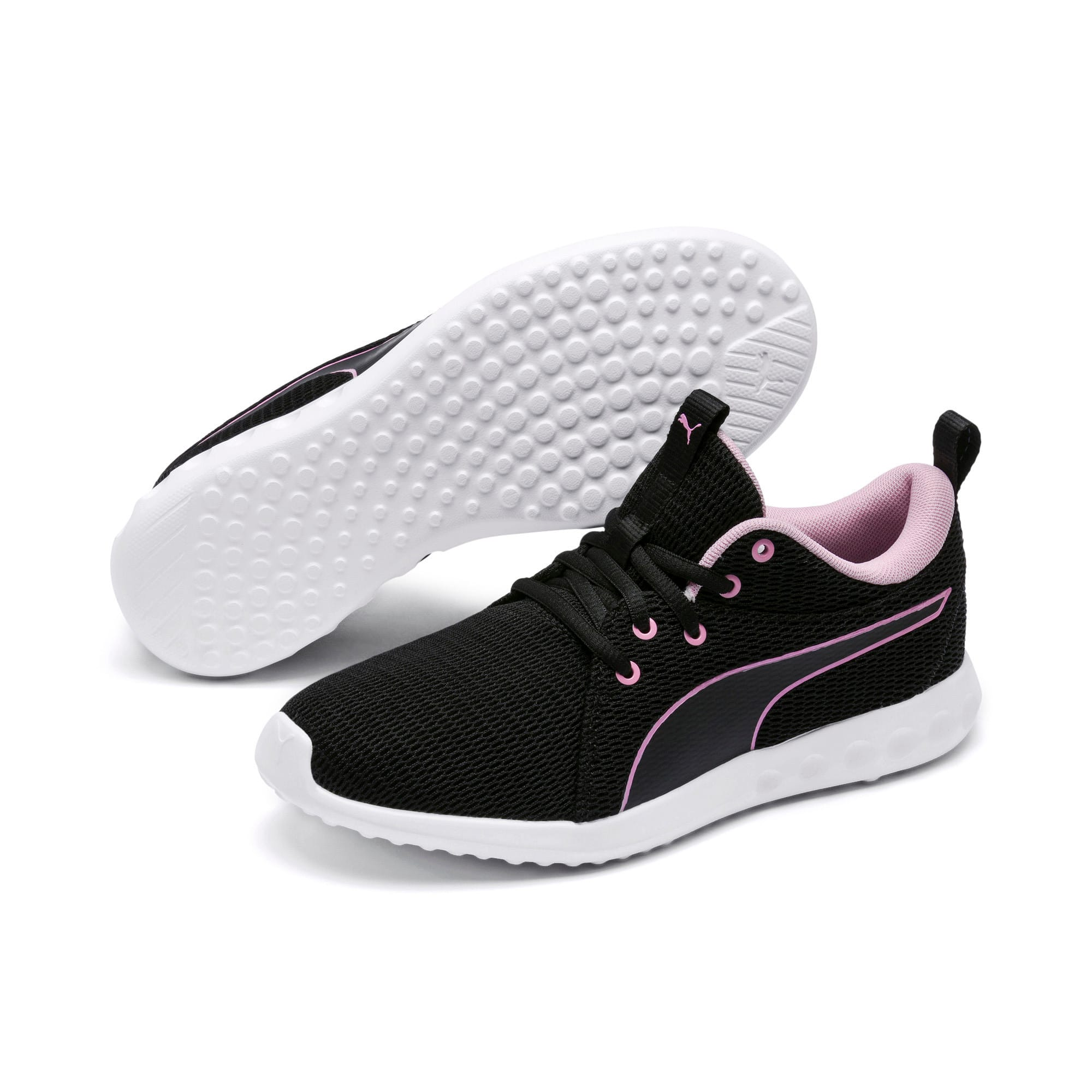 Thumbnail 2 of Carson 2 New Core Women's Trainers, Puma Black-Pale Pink, medium
