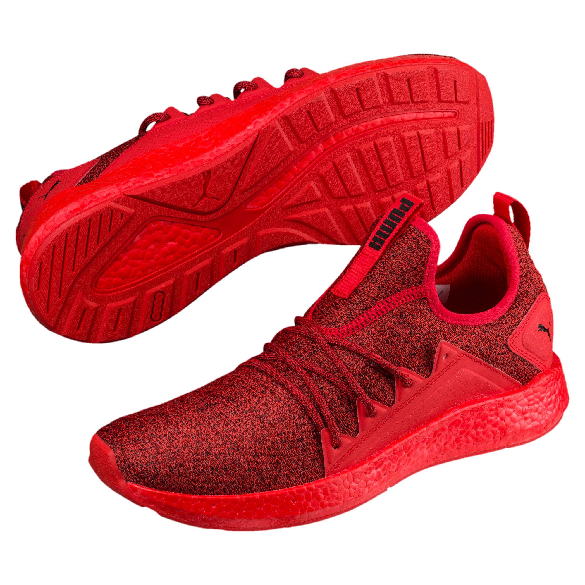 Thumbnail 2 of NRGY Neko Knit Men's Running Shoes, High Risk Red-Puma Black, medium