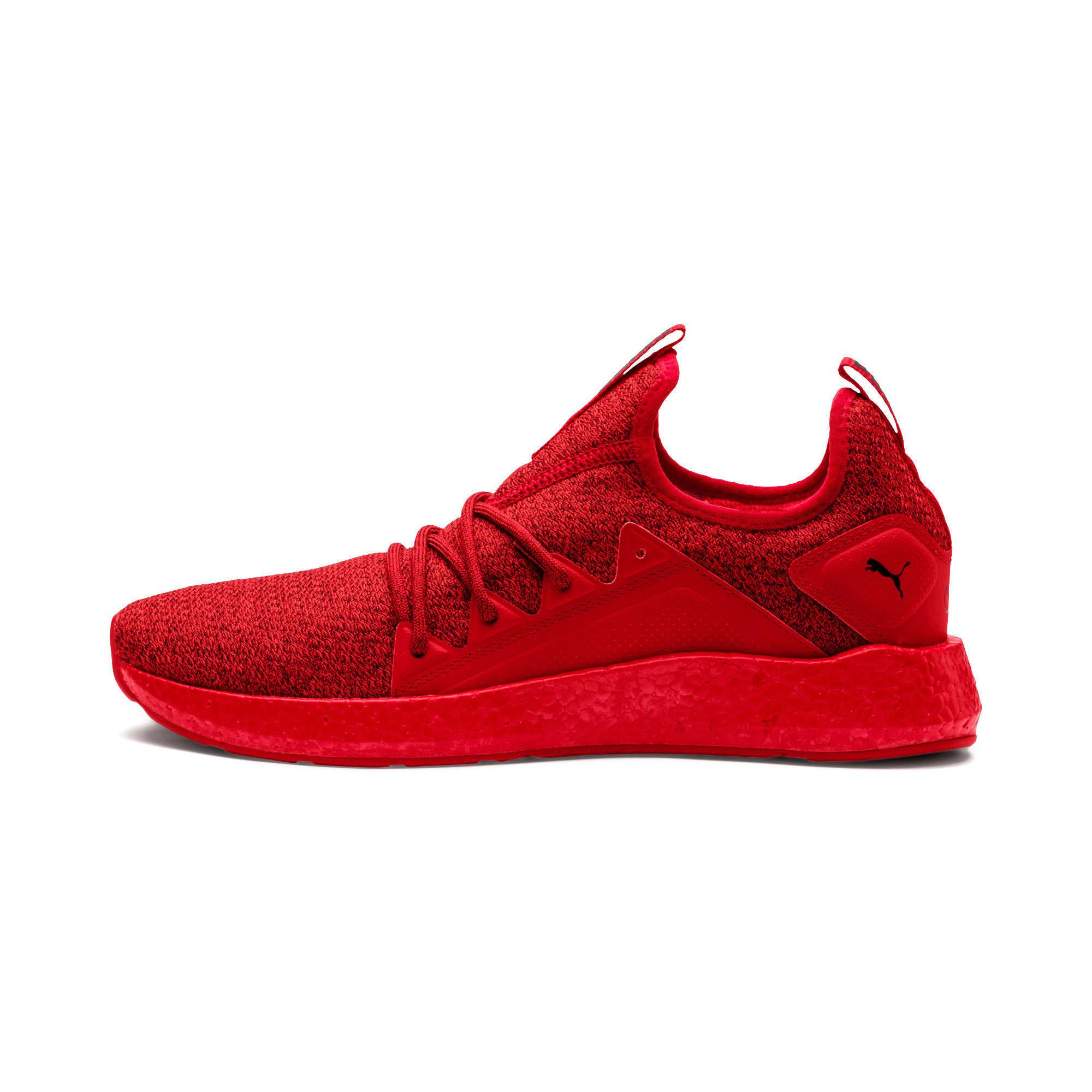 Thumbnail 1 of NRGY Neko Knit Men's Running Shoes, High Risk Red-Puma Black, medium