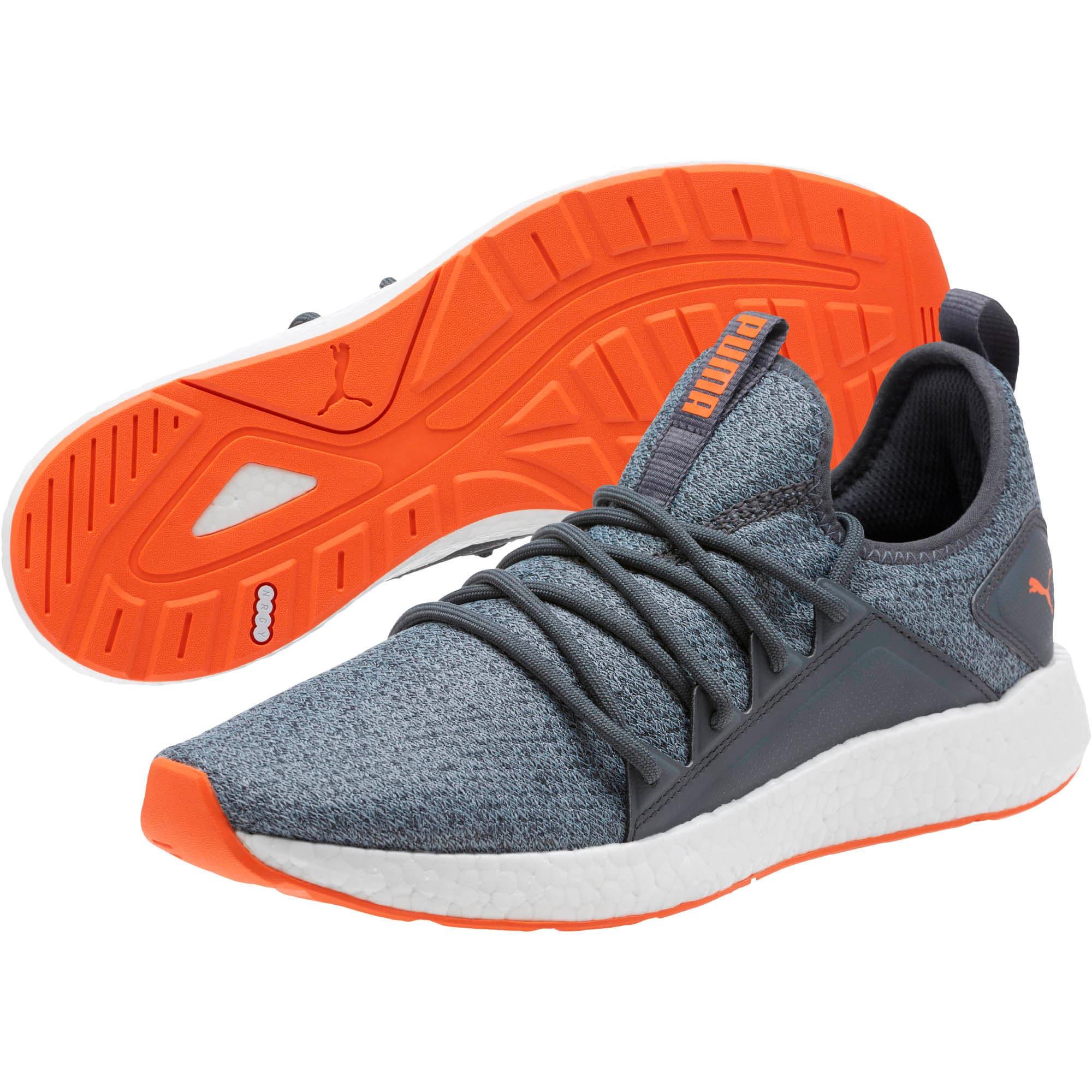 Thumbnail 2 of NRGY Neko Knit Men's Running Shoes, Iron Gate-Firecracker, medium