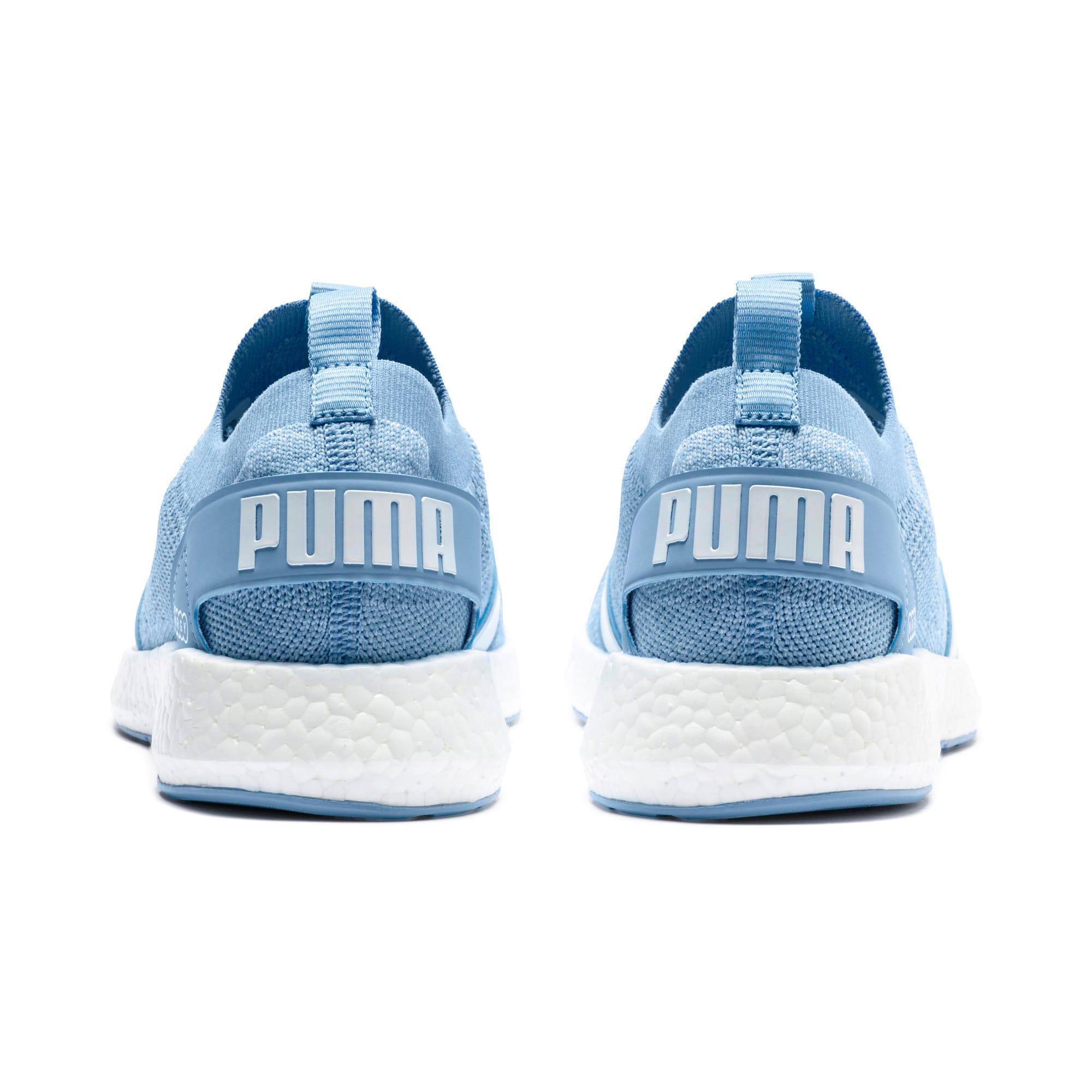 Thumbnail 4 of NRGY Neko Engineer Knit Women's Running Shoes, CERULEAN-Puma White, medium