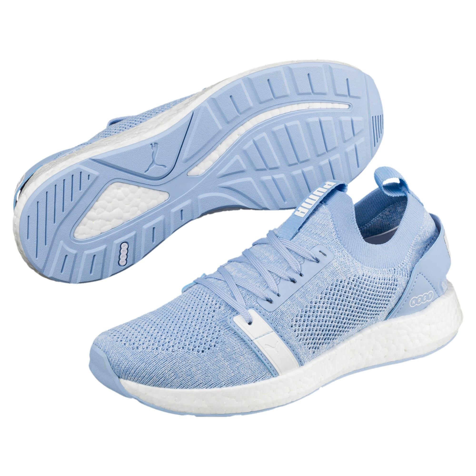 Thumbnail 2 of NRGY Neko Engineer Knit Women's Running Shoes, CERULEAN-Puma White, medium