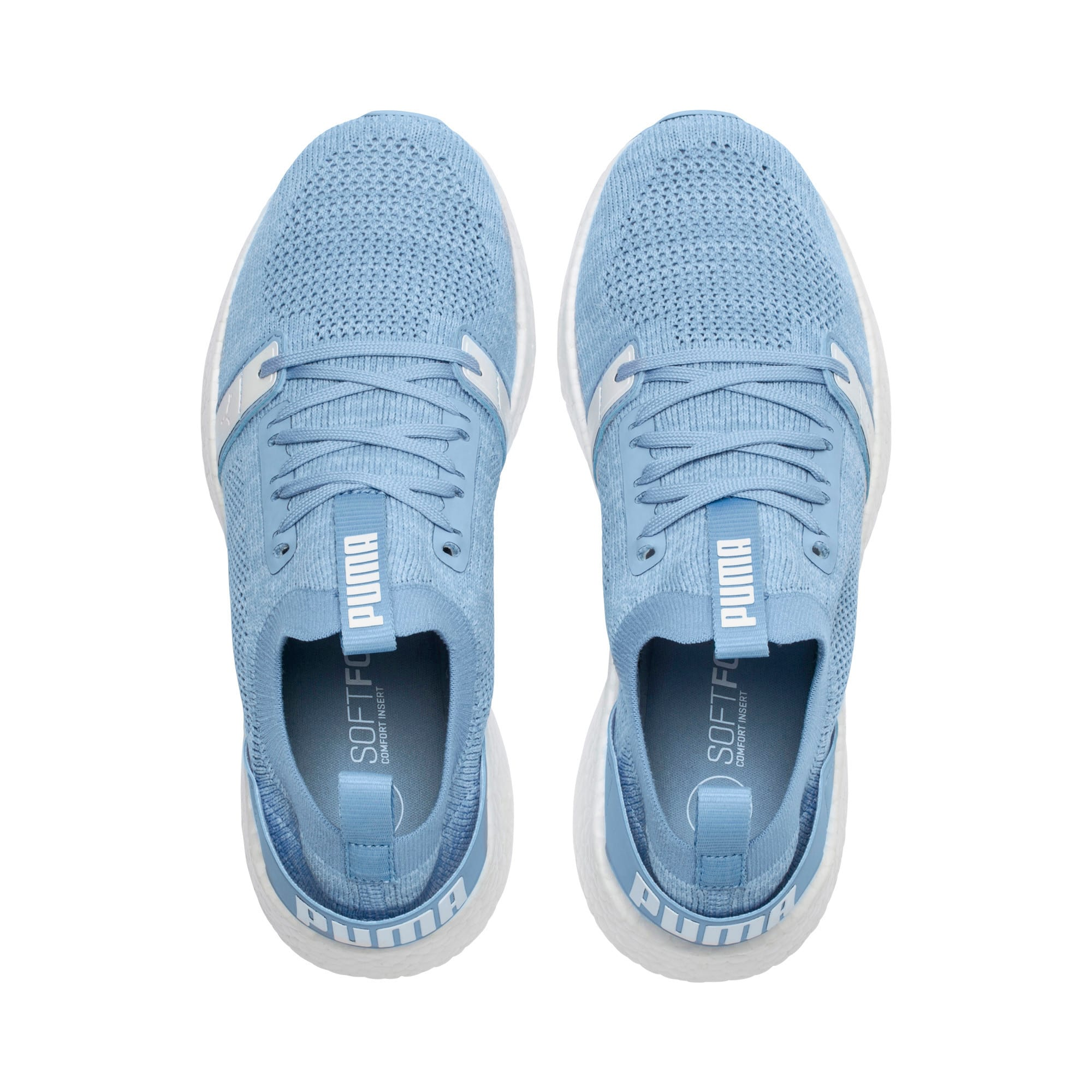 Thumbnail 6 of NRGY Neko Engineer Knit Women's Running Shoes, CERULEAN-Puma White, medium