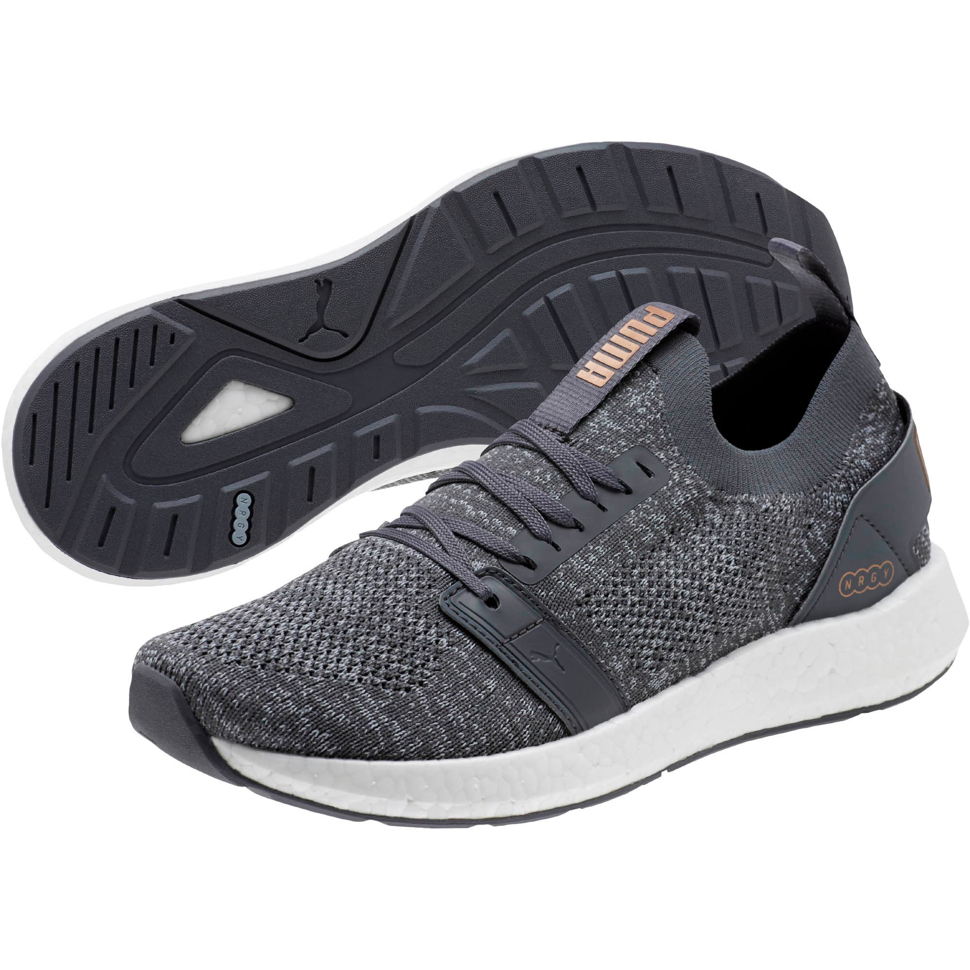 Thumbnail 2 of NRGY Neko Engineer Knit Women's Running Shoes, IronGate-Quarry-MtllicBrnze, medium