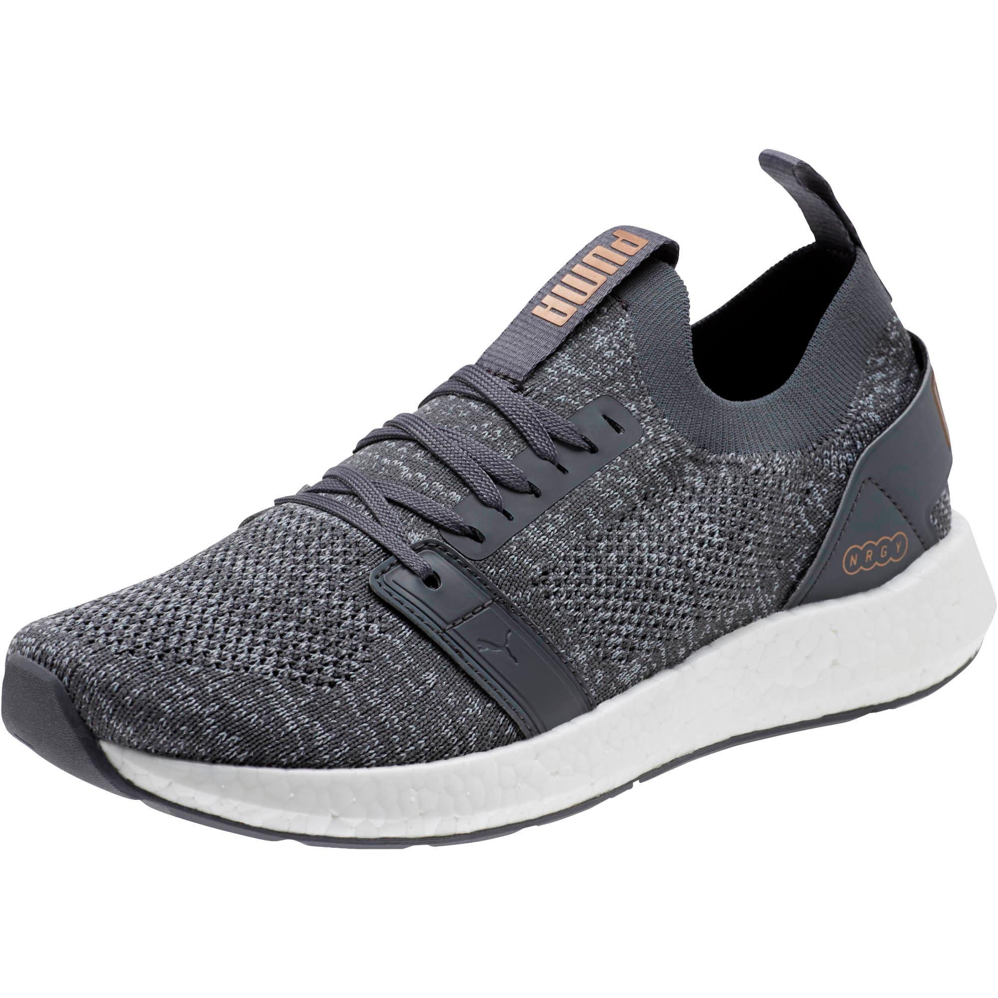 Thumbnail 1 of NRGY Neko Engineer Knit Women's Running Shoes, IronGate-Quarry-MtllicBrnze, medium