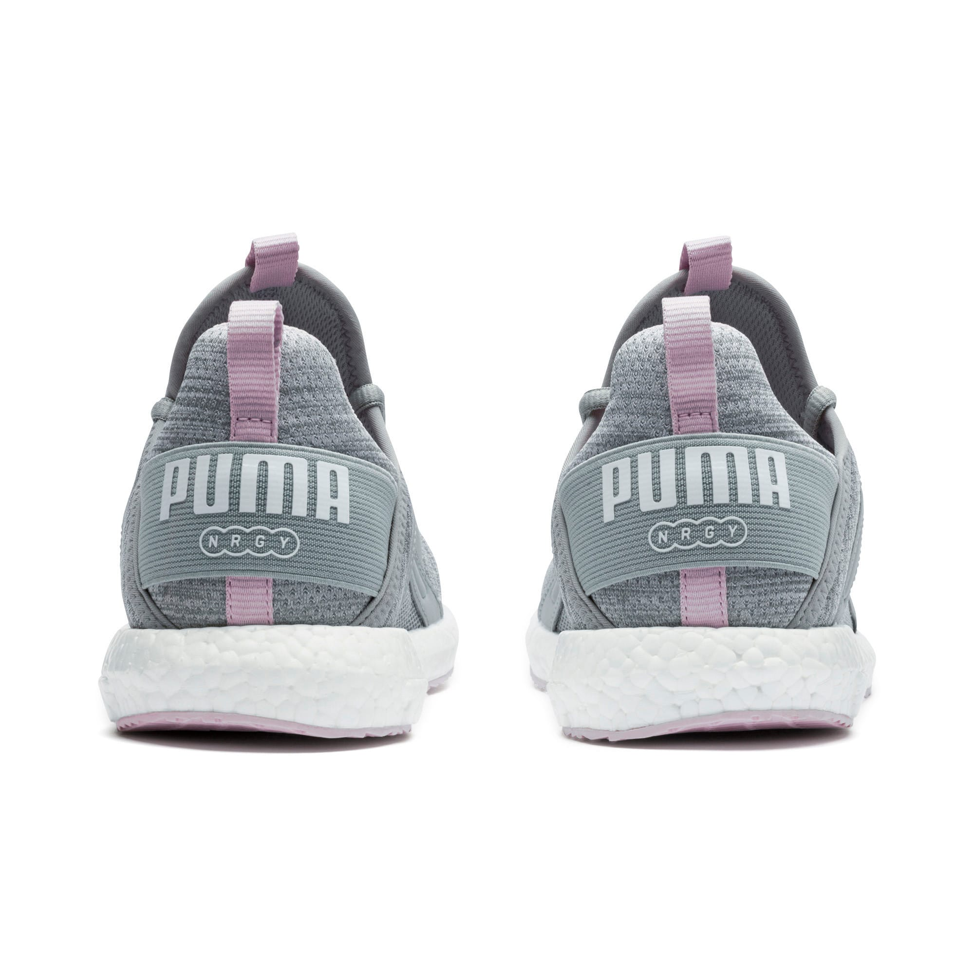 Thumbnail 3 of Mega Energy Heather Knit Women's Running Shoes, Quarry-Winsome Orchid-White, medium-IND