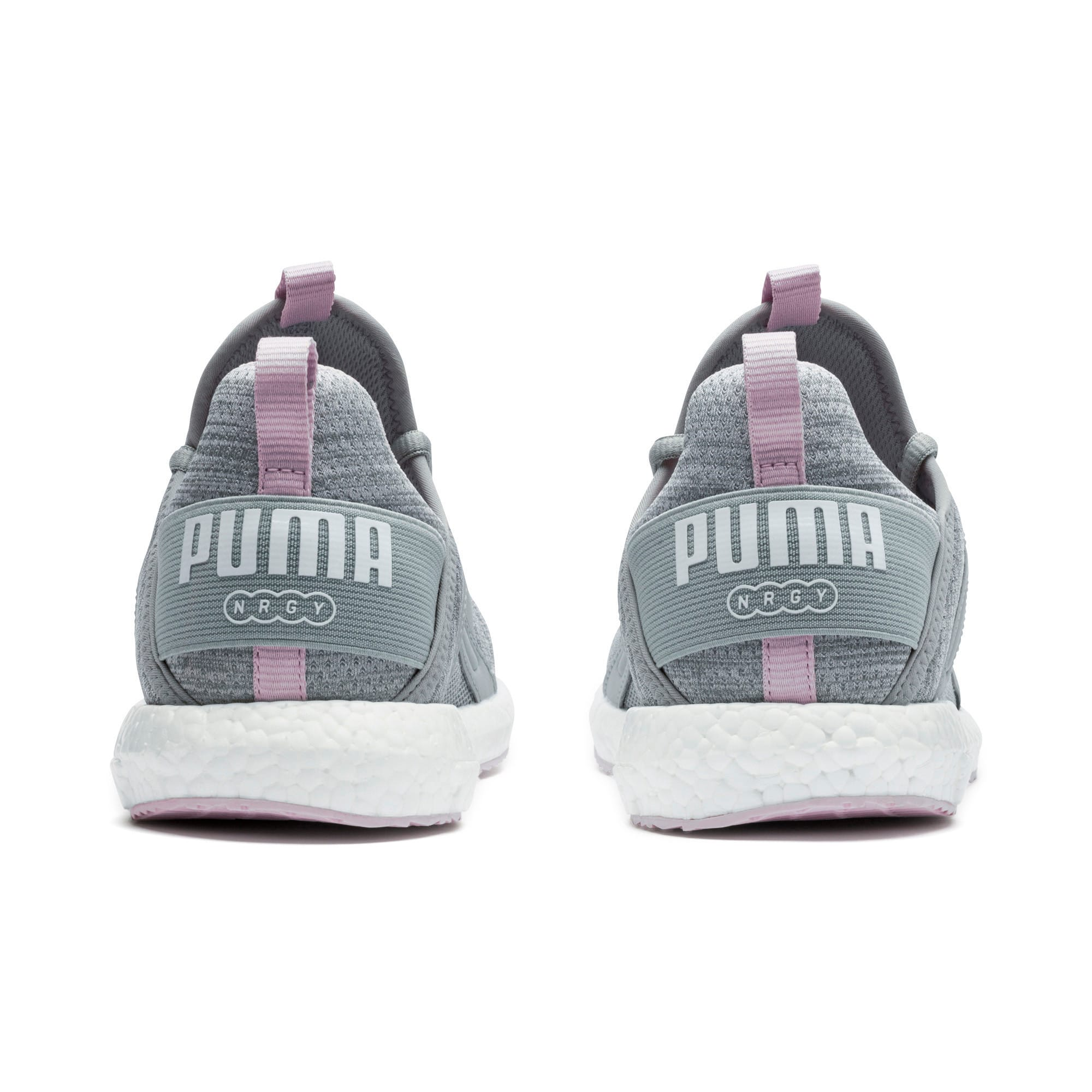 Thumbnail 2 of Mega Energy Heather Knit Women's Running Shoes, Quarry-Winsome Orchid-White, medium-IND