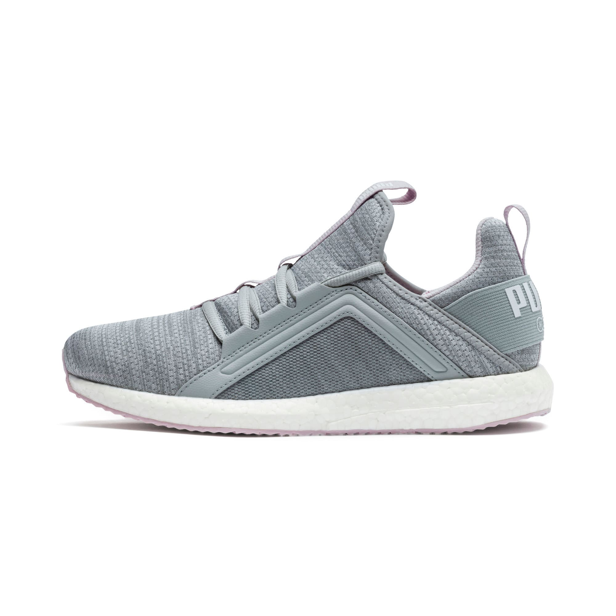 Thumbnail 1 of Mega Energy Heather Knit Women's Running Shoes, Quarry-Winsome Orchid-White, medium-IND