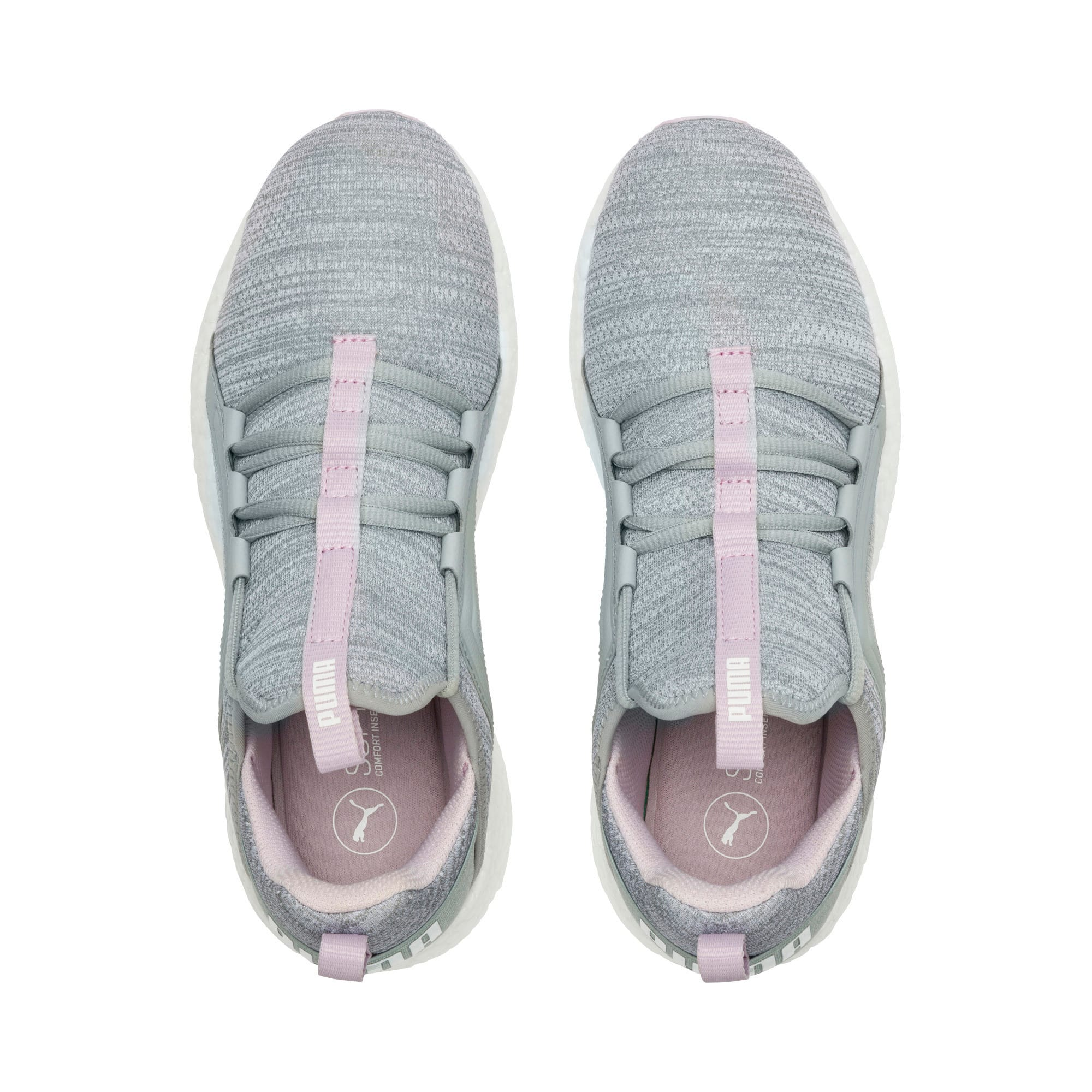 Thumbnail 6 of Mega Energy Heather Knit Women's Running Shoes, Quarry-Winsome Orchid-White, medium-IND