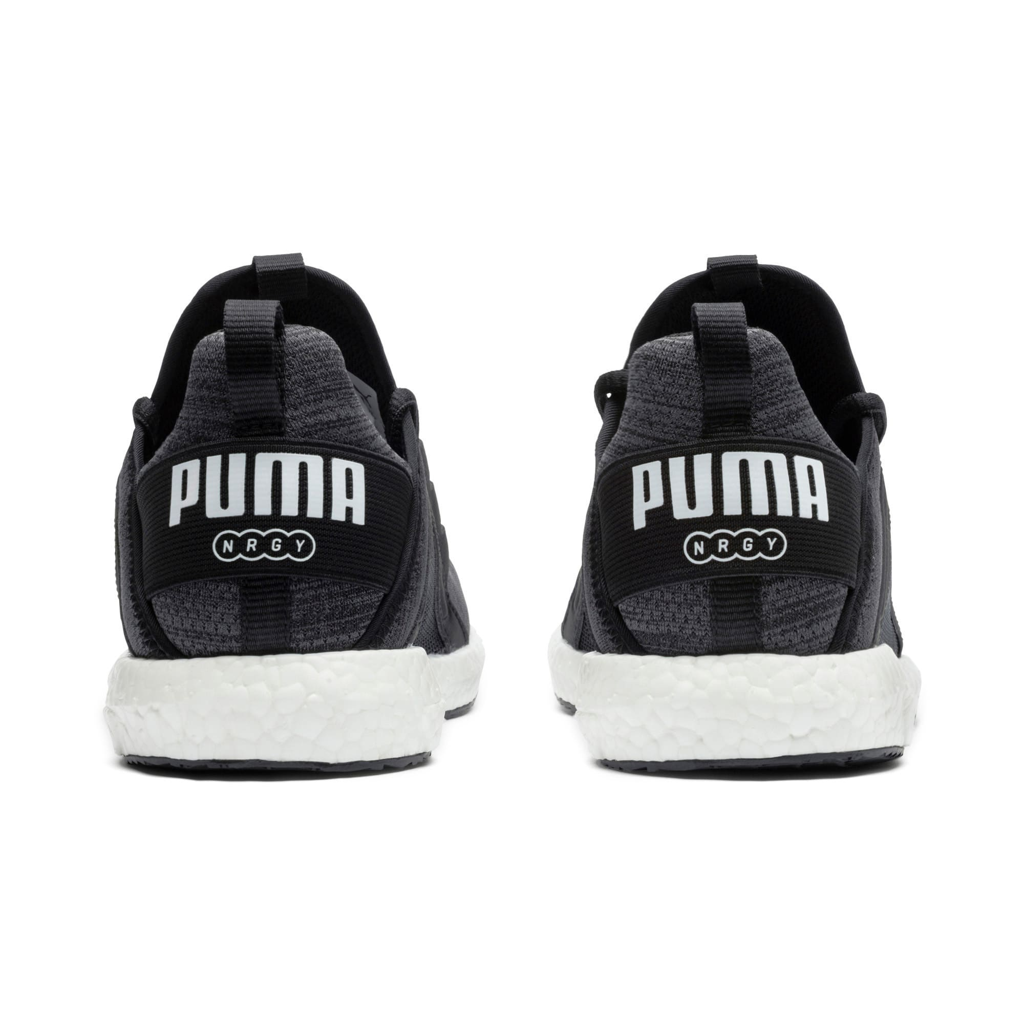 Thumbnail 2 of Mega Energy Heather Knit Women's Running Shoes, Black-Iron Gate-White, medium-IND