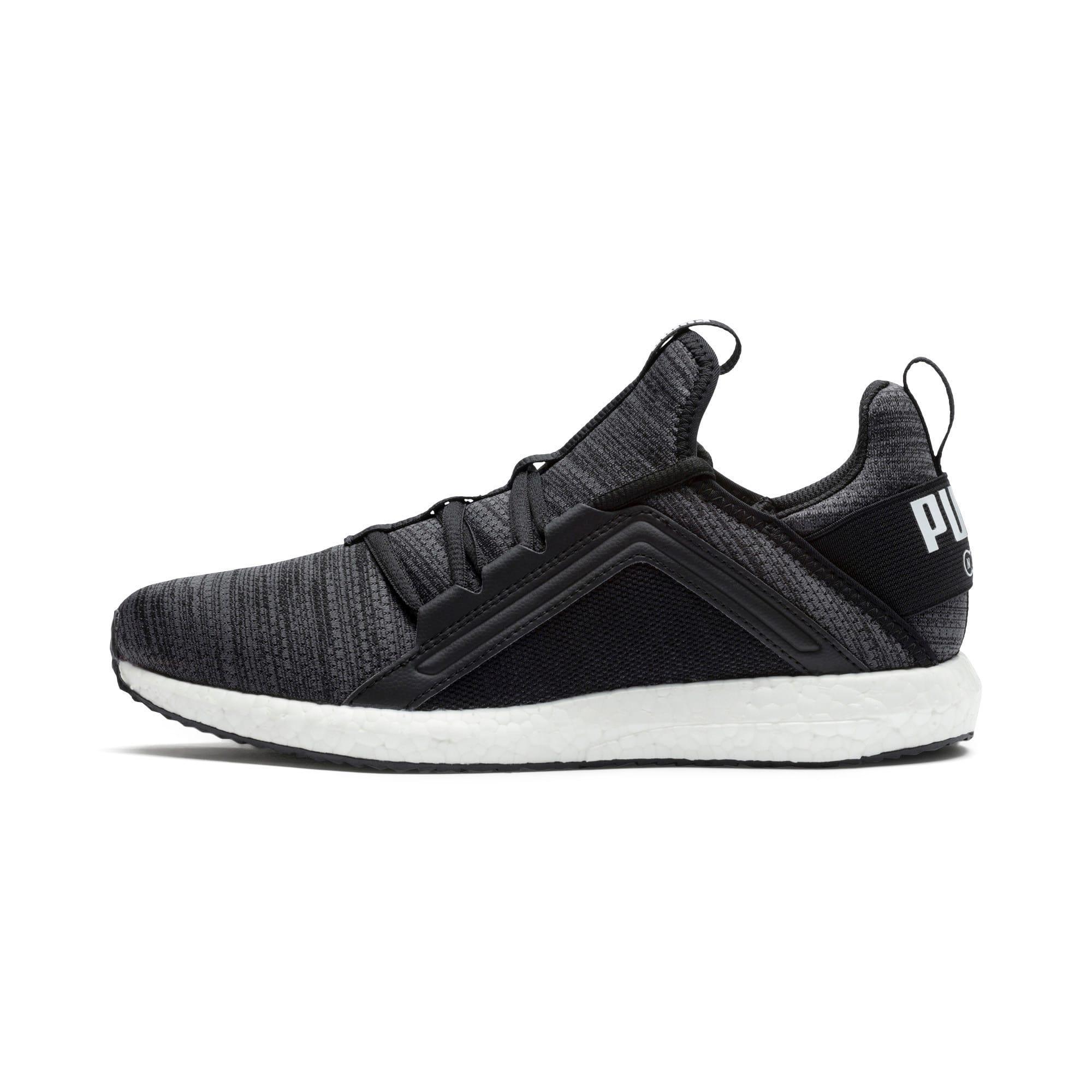 Thumbnail 1 of Mega Energy Heather Knit Women's Running Shoes, Black-Iron Gate-White, medium-IND