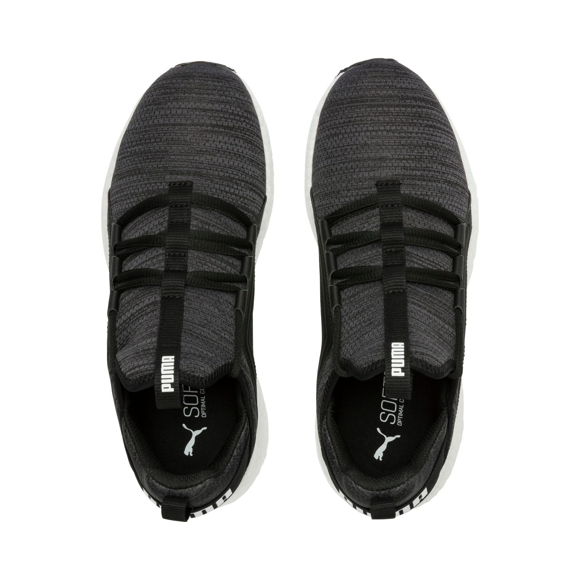Thumbnail 4 of Mega Energy Heather Knit Women's Running Shoes, Black-Iron Gate-White, medium-IND