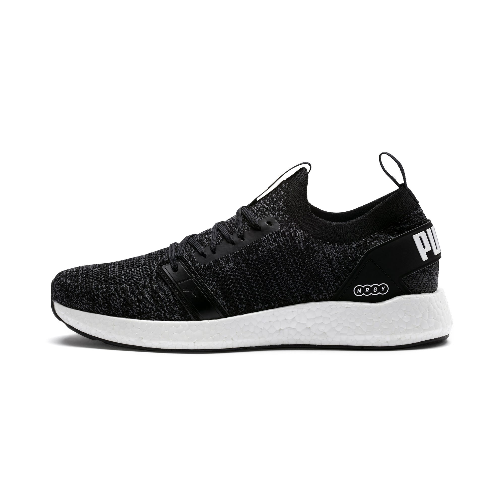 Thumbnail 1 of NRGY Neko Engineer Knit Men's Running Shoes, Puma Black-Iron Gate, medium
