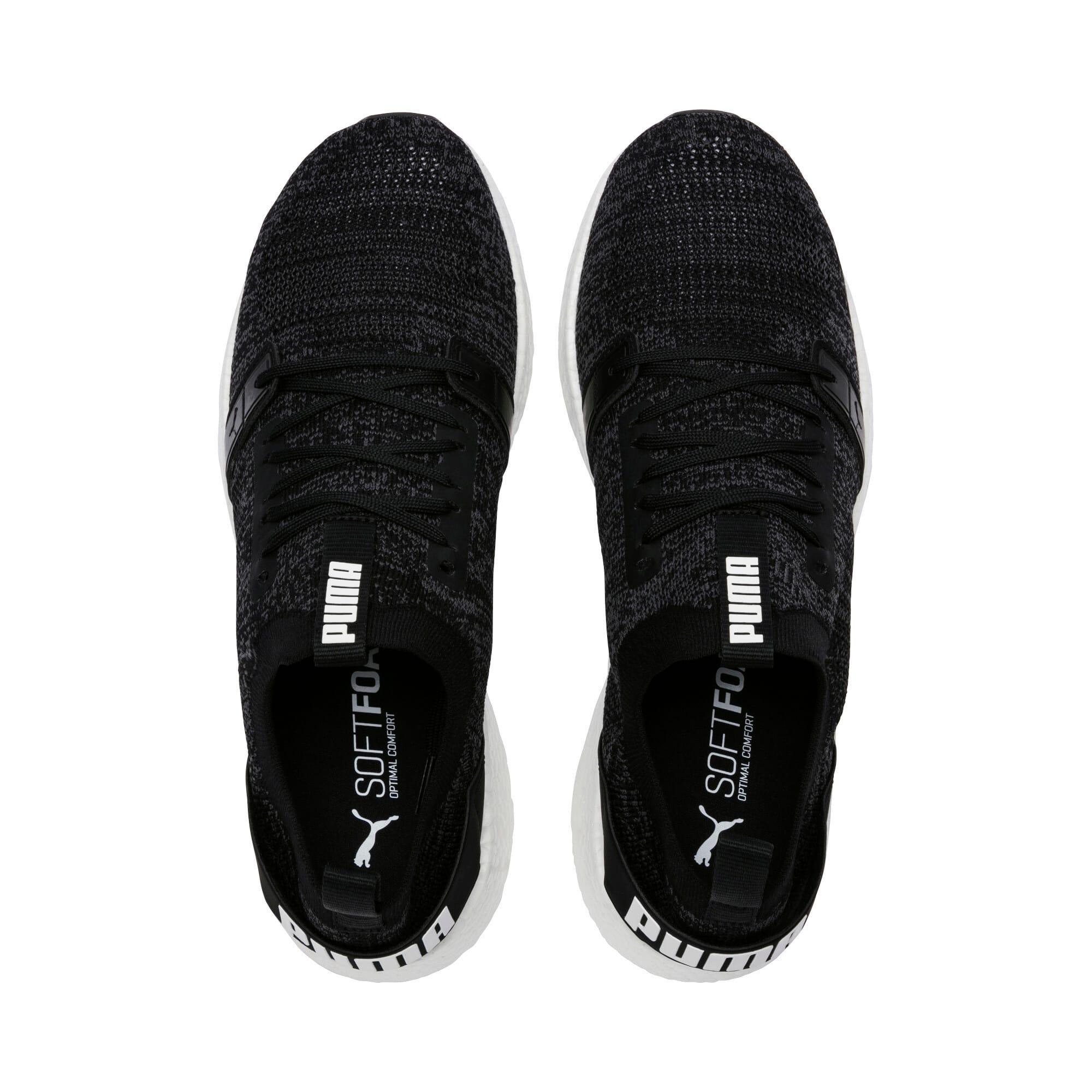 Thumbnail 6 of NRGY Neko Engineer Knit Men's Running Shoes, Puma Black-Iron Gate, medium