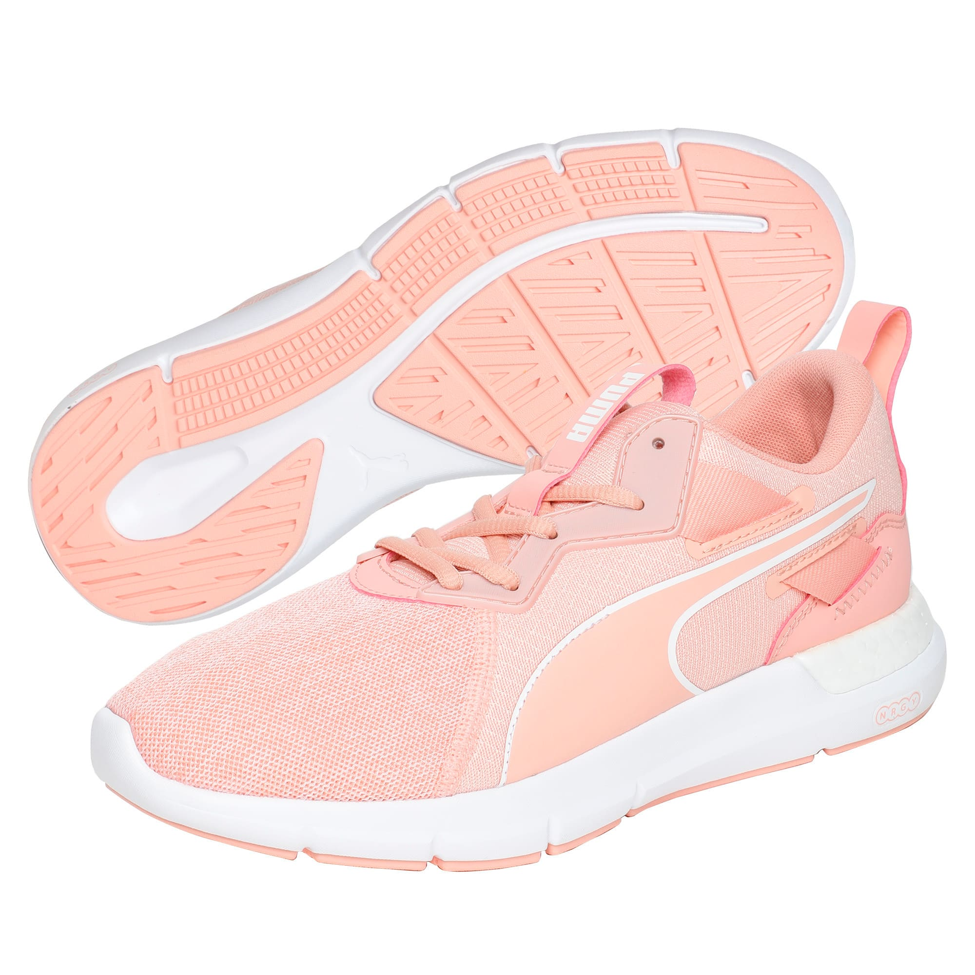 Thumbnail 2 of NRGY Dynamo Futuro Wns Puma Black-Puma W, Peach Bud-Puma White, medium-IND