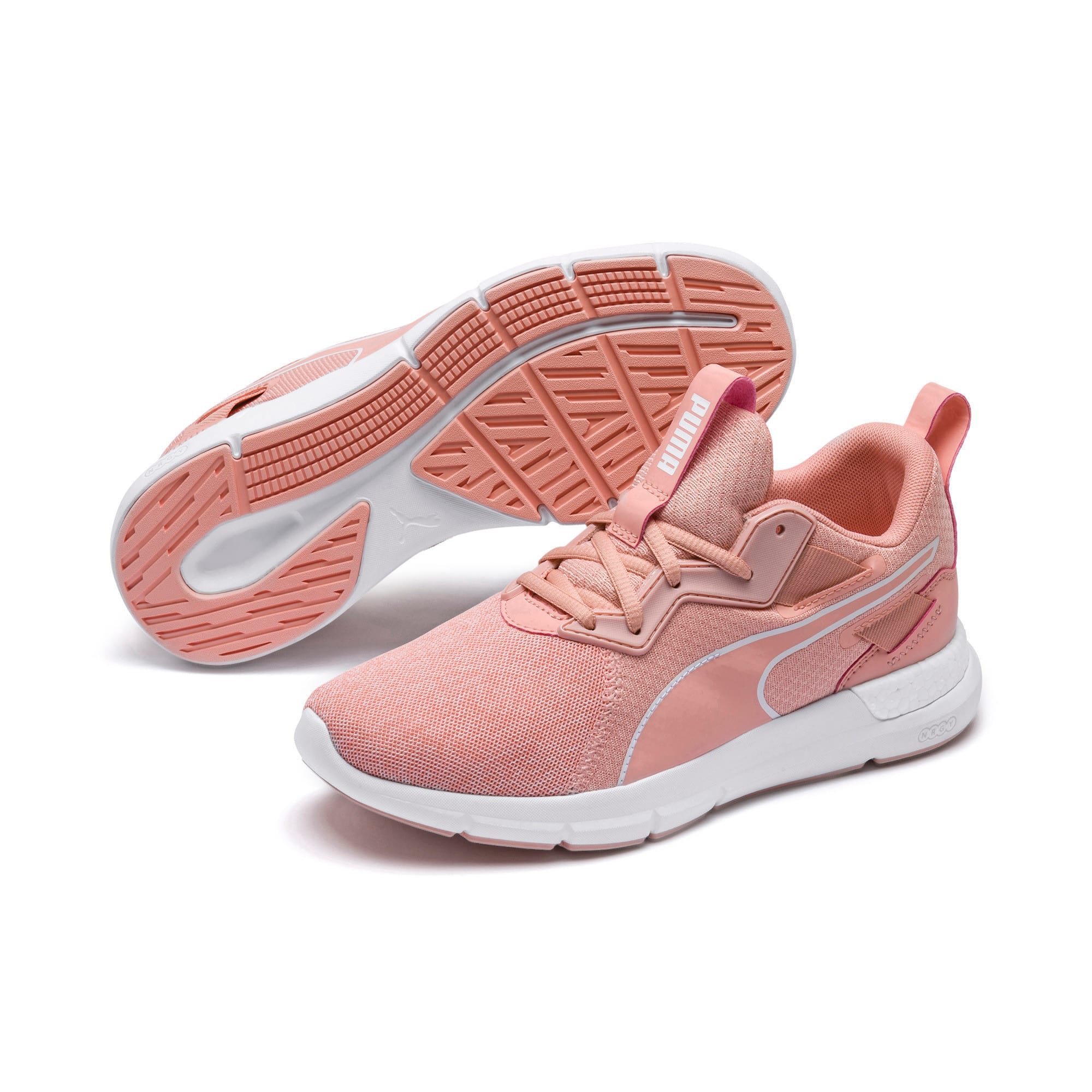 Thumbnail 6 of NRGY Dynamo Futuro Wns Puma Black-Puma W, Peach Bud-Puma White, medium-IND