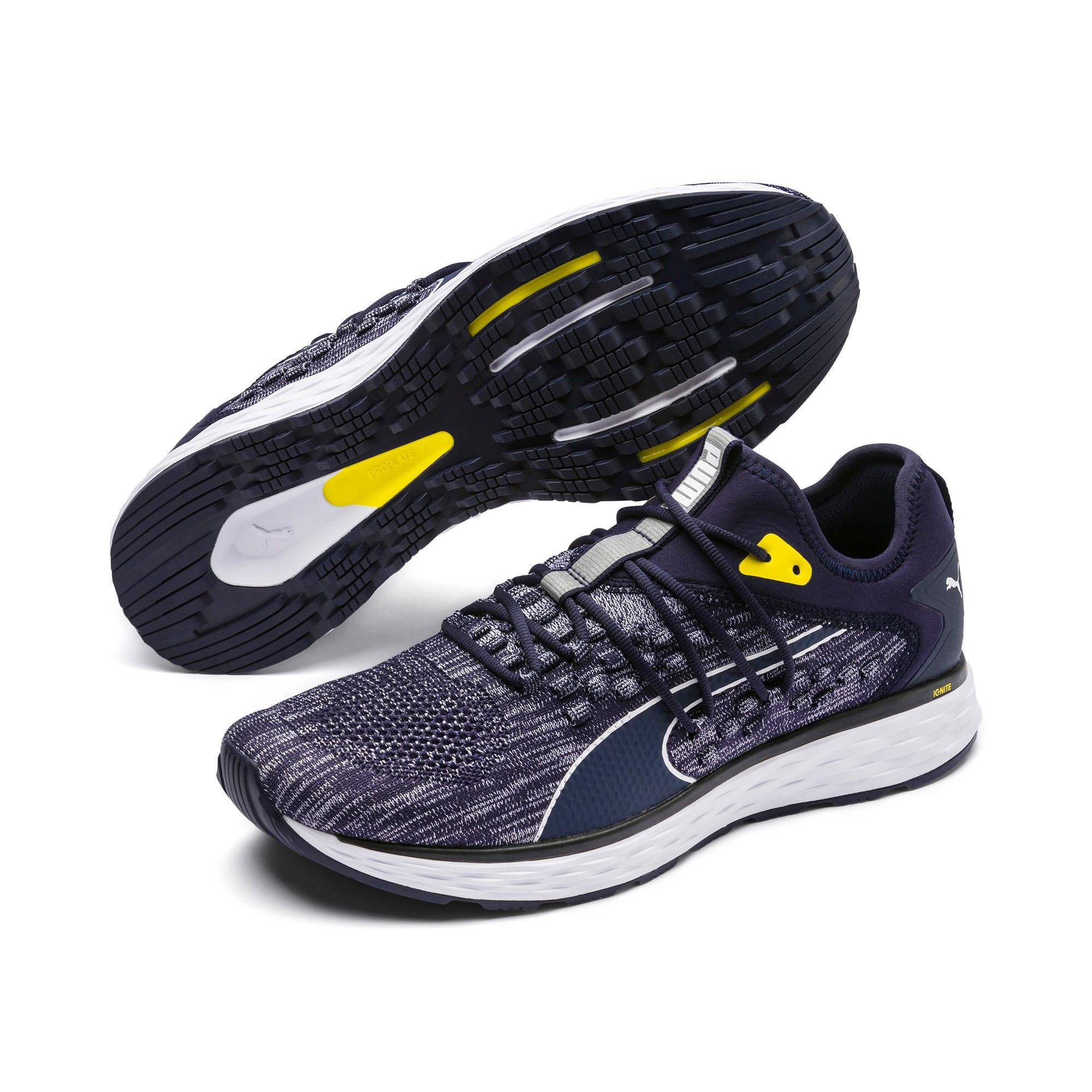 Thumbnail 3 of SPEED FUSEFIT Men's Running Shoes, Peacoat-White-Blazing Yellow, medium-IND