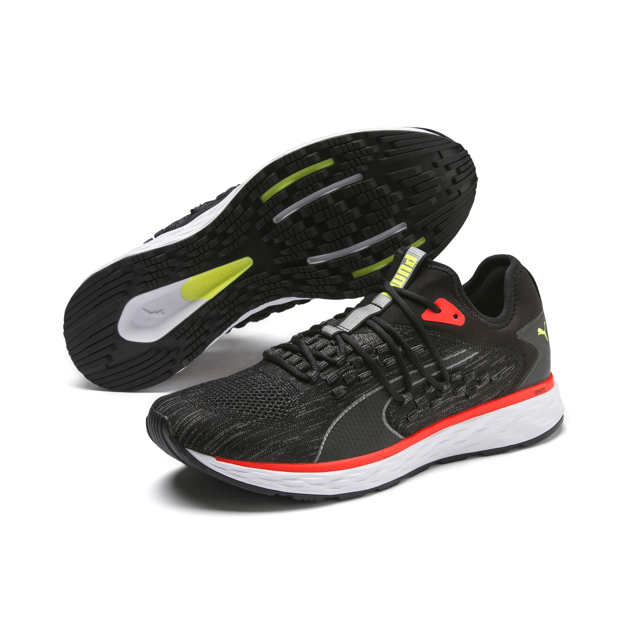 Thumbnail 3 of SPEED FUSEFIT Men's Running Shoes, Puma Black-Nrgy Red, medium